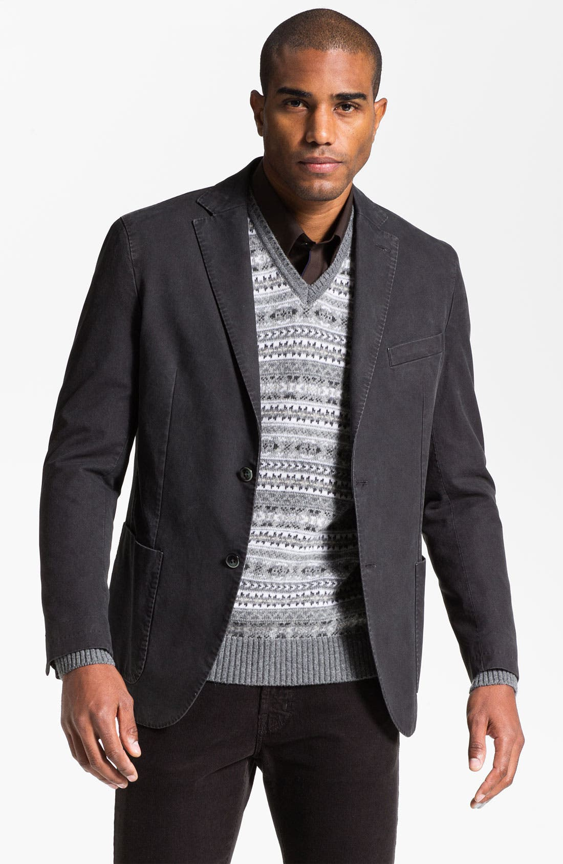 Alternate Image 1 Selected - Lubiam Trim Fit Cotton Sportcoat