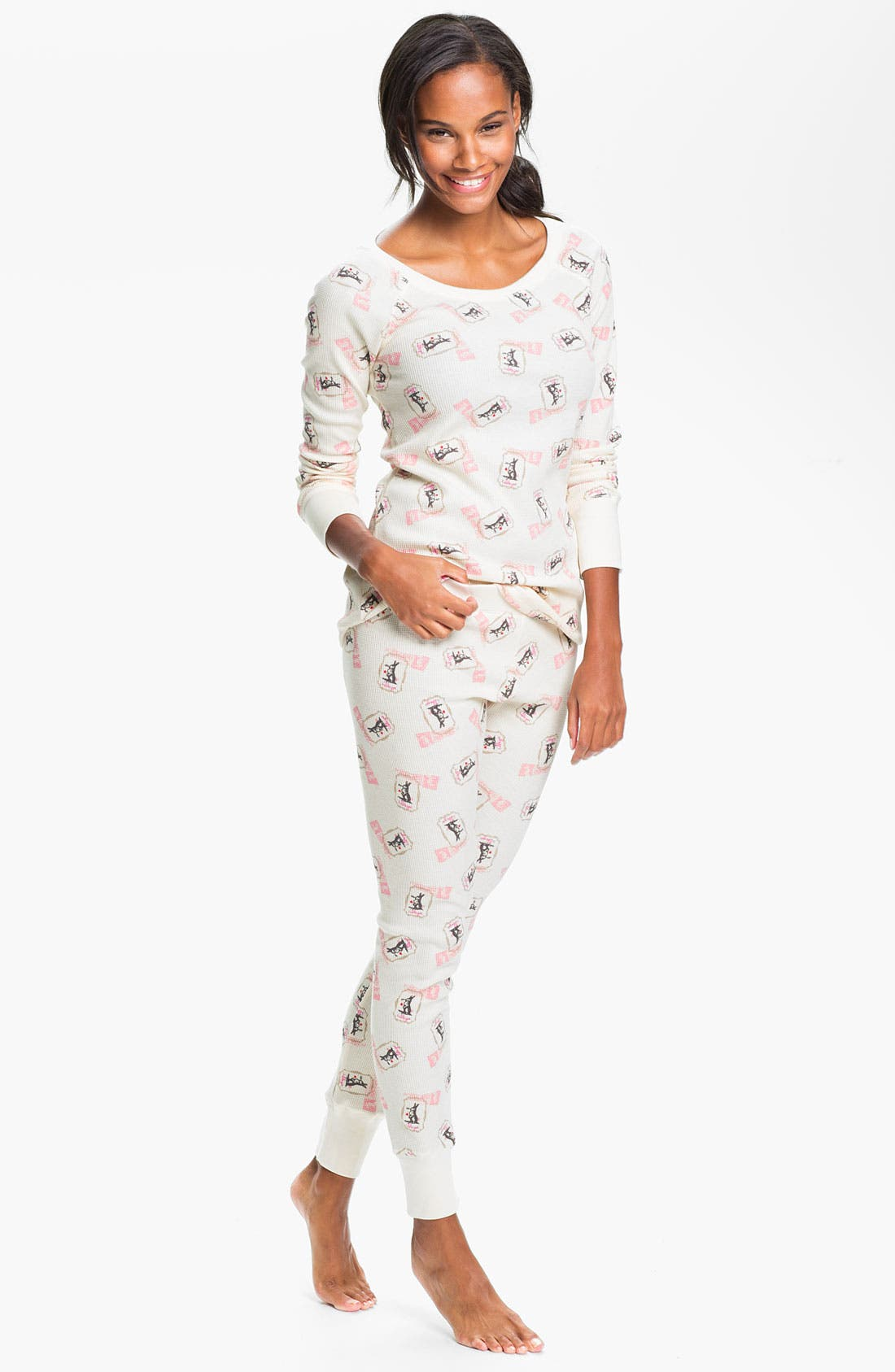 Main Image - Hue 'Huetopia' Thermal Pajamas
