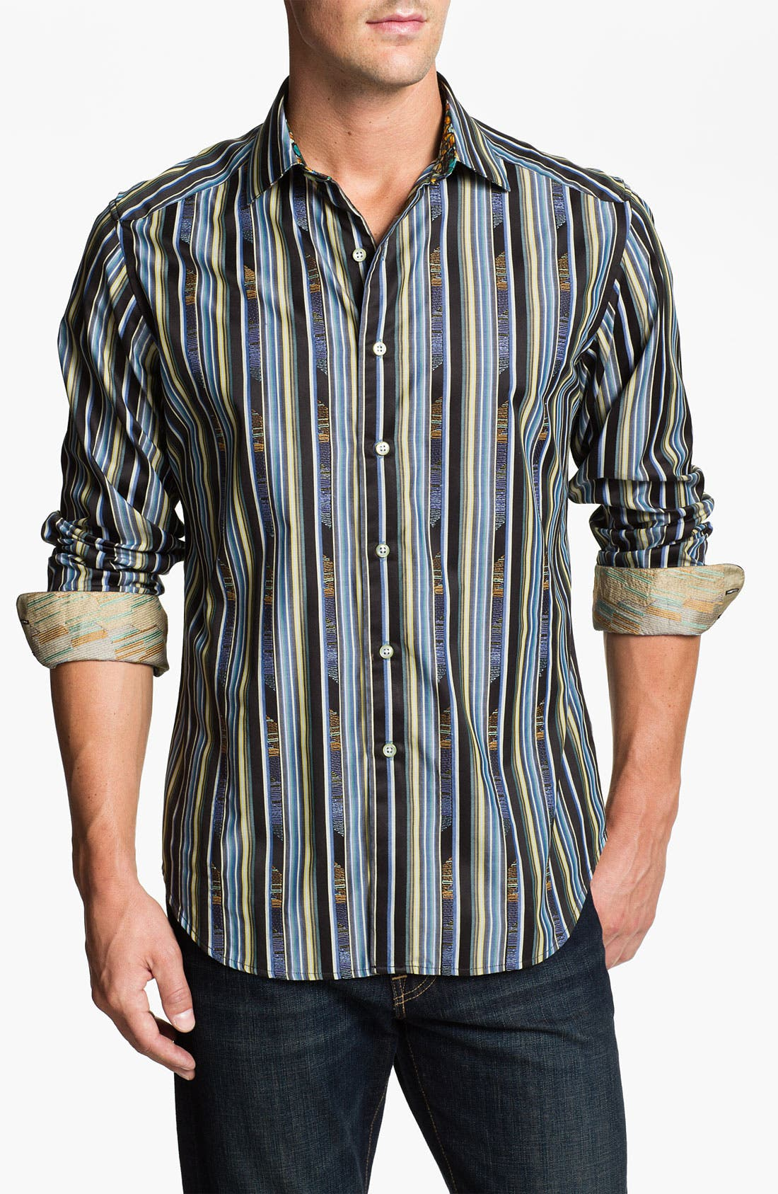 Alternate Image 1 Selected - Robert Graham 'Gamboge' Sport Shirt