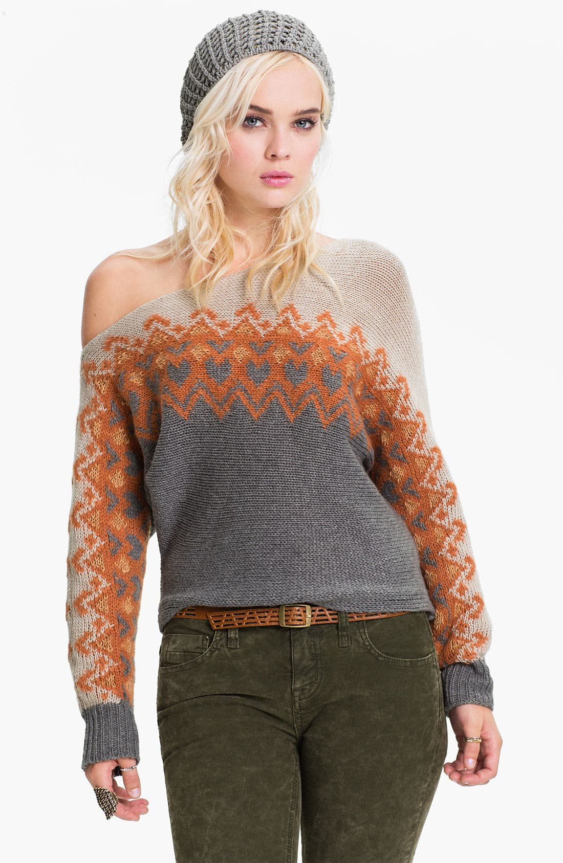 Alternate Image 1 Selected - Free People Off Shoulder Ski Sweater