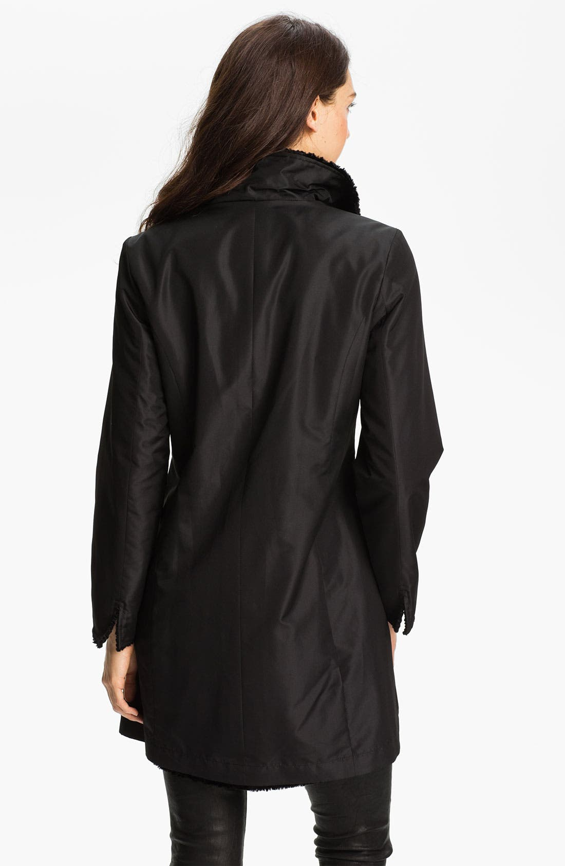 Alternate Image 2  - Ellen Tracy Reversible Faux Persian Lamb Fur Coat (Regular & Petite) (Nordstrom Exclusive)