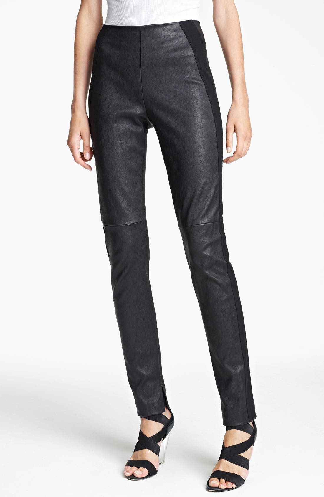 Main Image - Donna Karan Collection Skinny Stretch Leather Pants