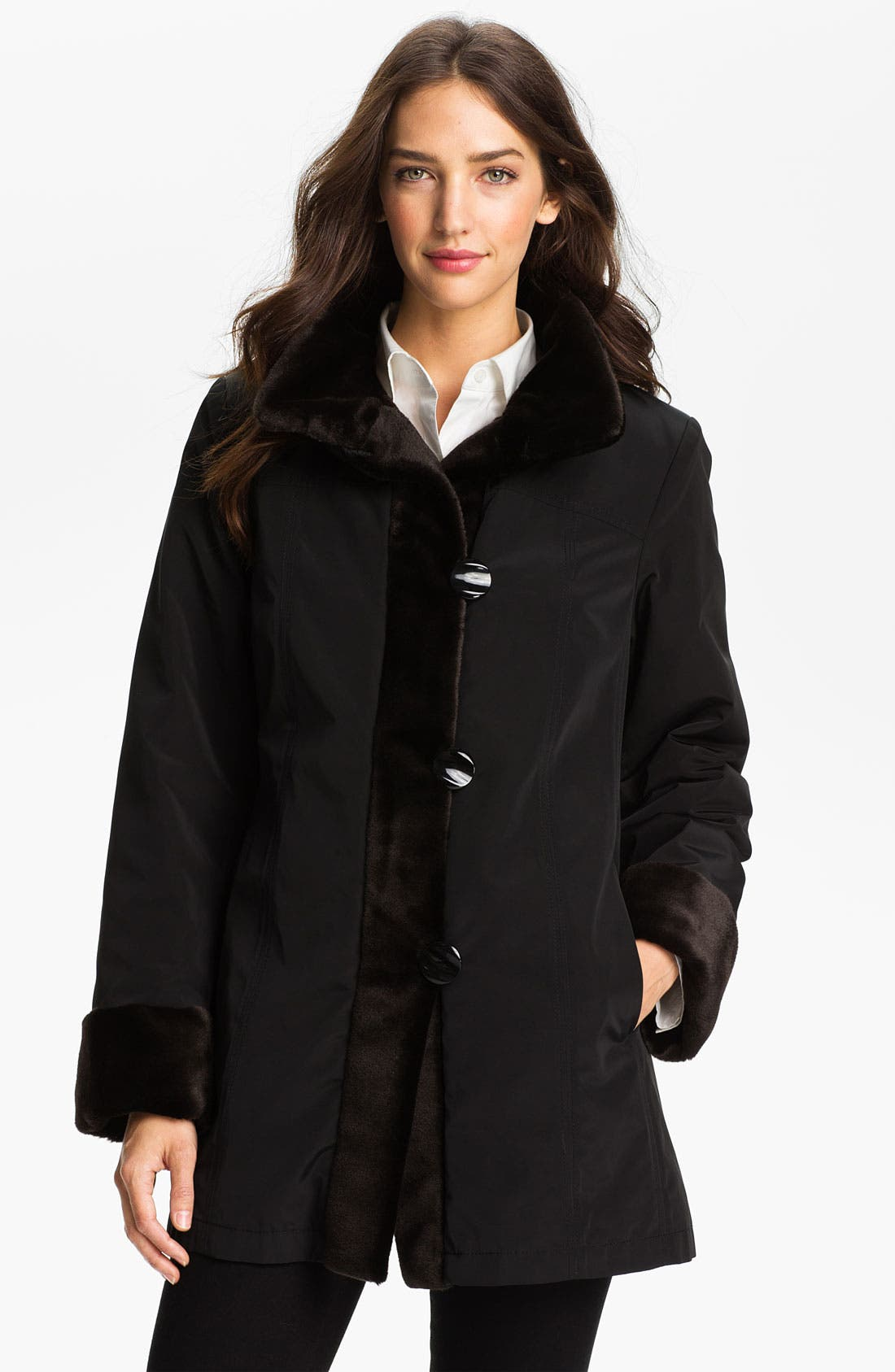 Alternate Image 1 Selected - Gallery Storm Coat with Faux Fur Lining