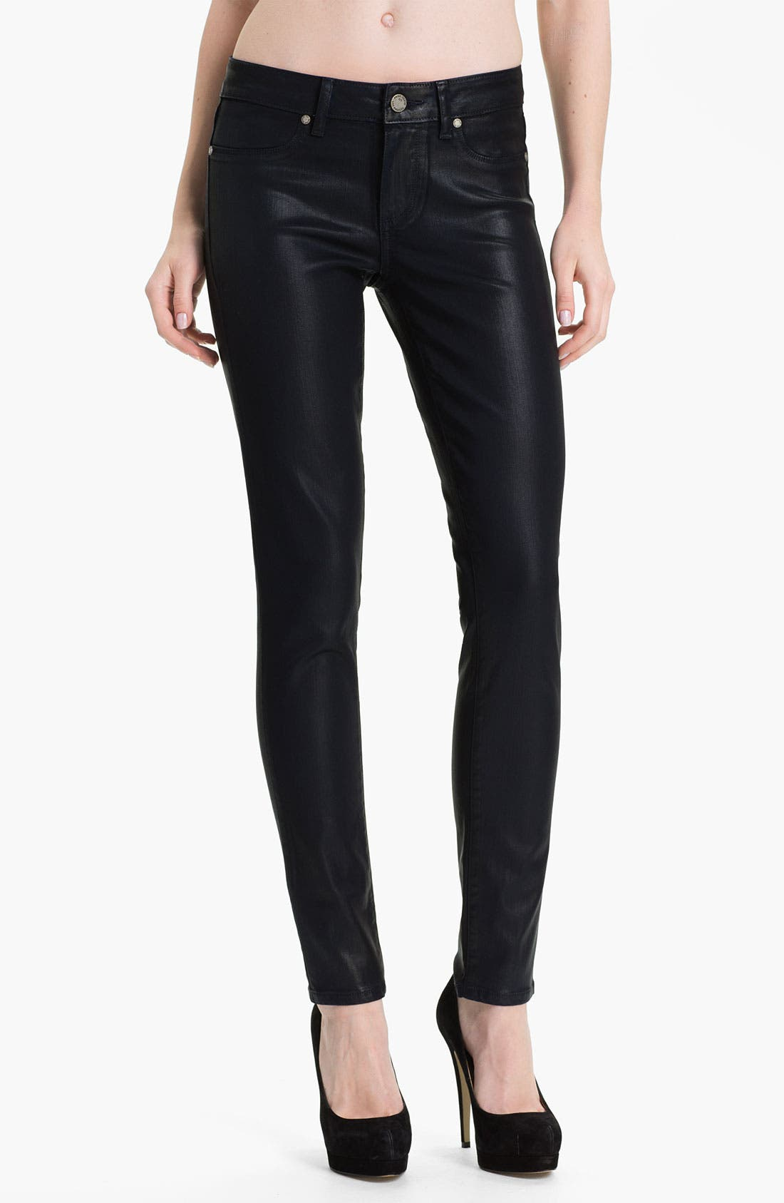 Alternate Image 1 Selected - Paige Denim 'Verdugo' Coated Stretch Denim Jeans (Azure Silk)