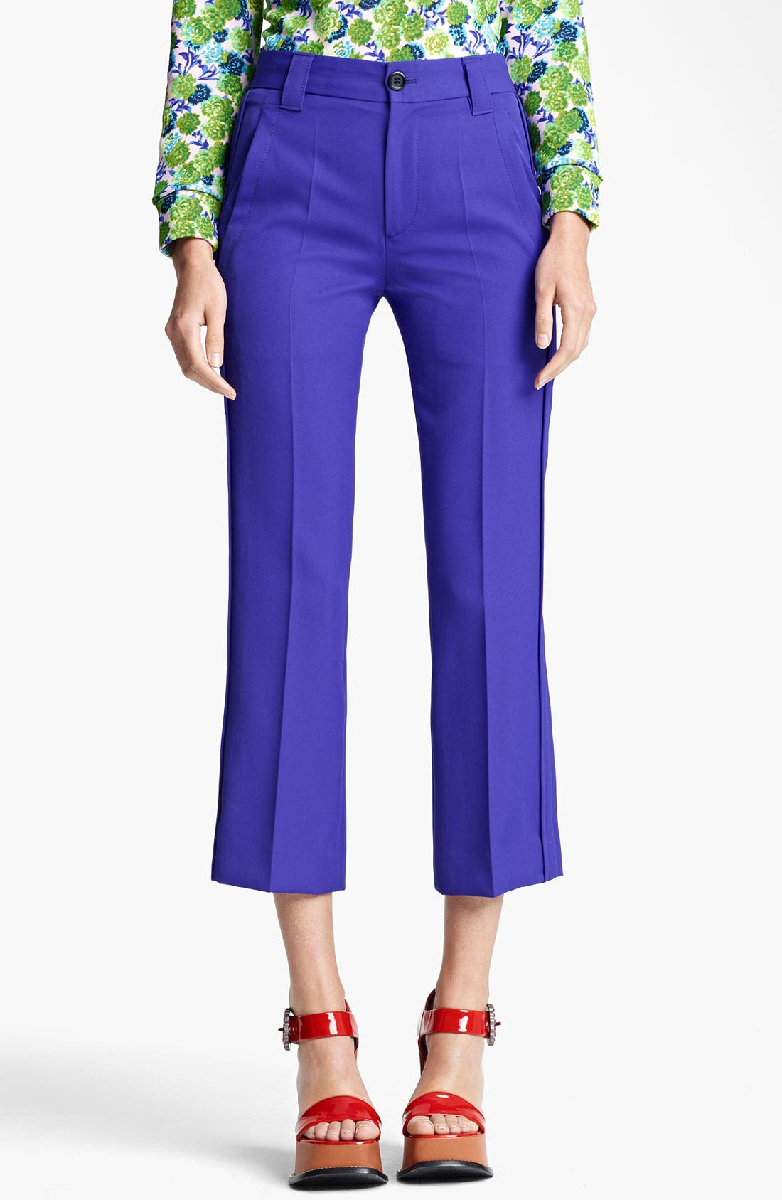 Alternate Image 1 Selected - MARC JACOBS Technical Twill Crop Pants
