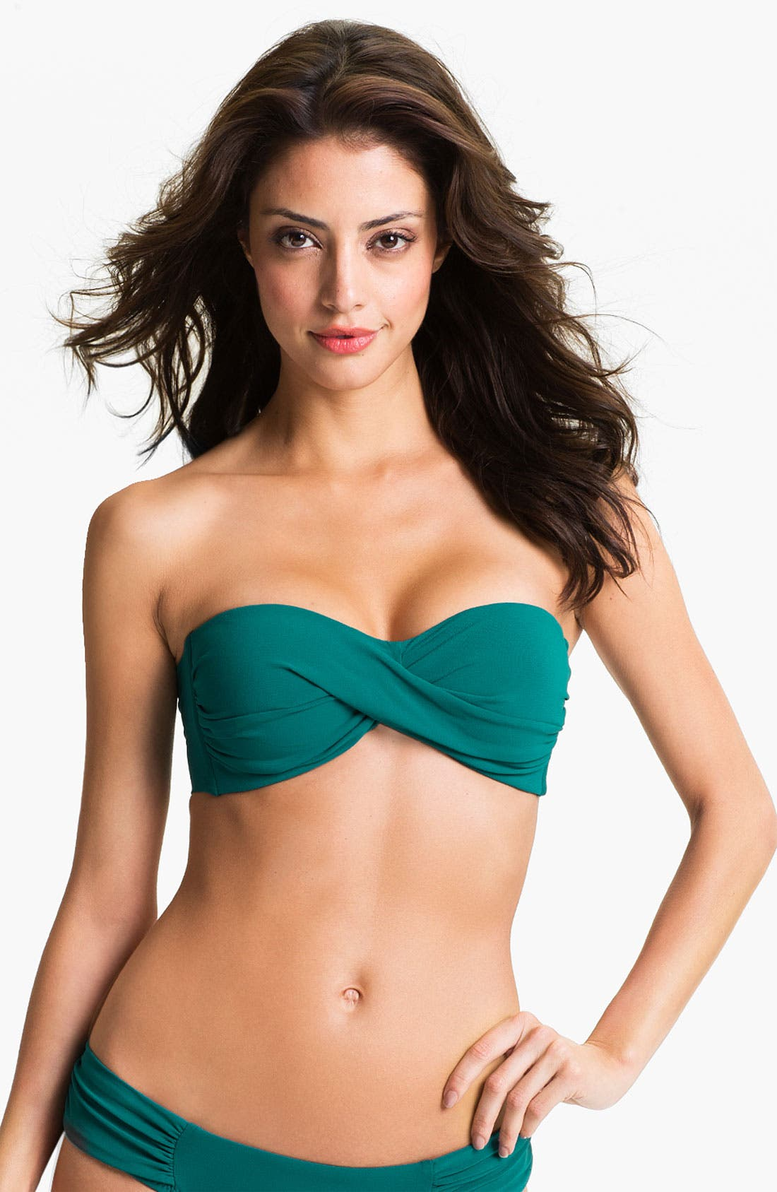 Alternate Image 1 Selected - Robin Piccone Twist Front Bandeau Bikini Top