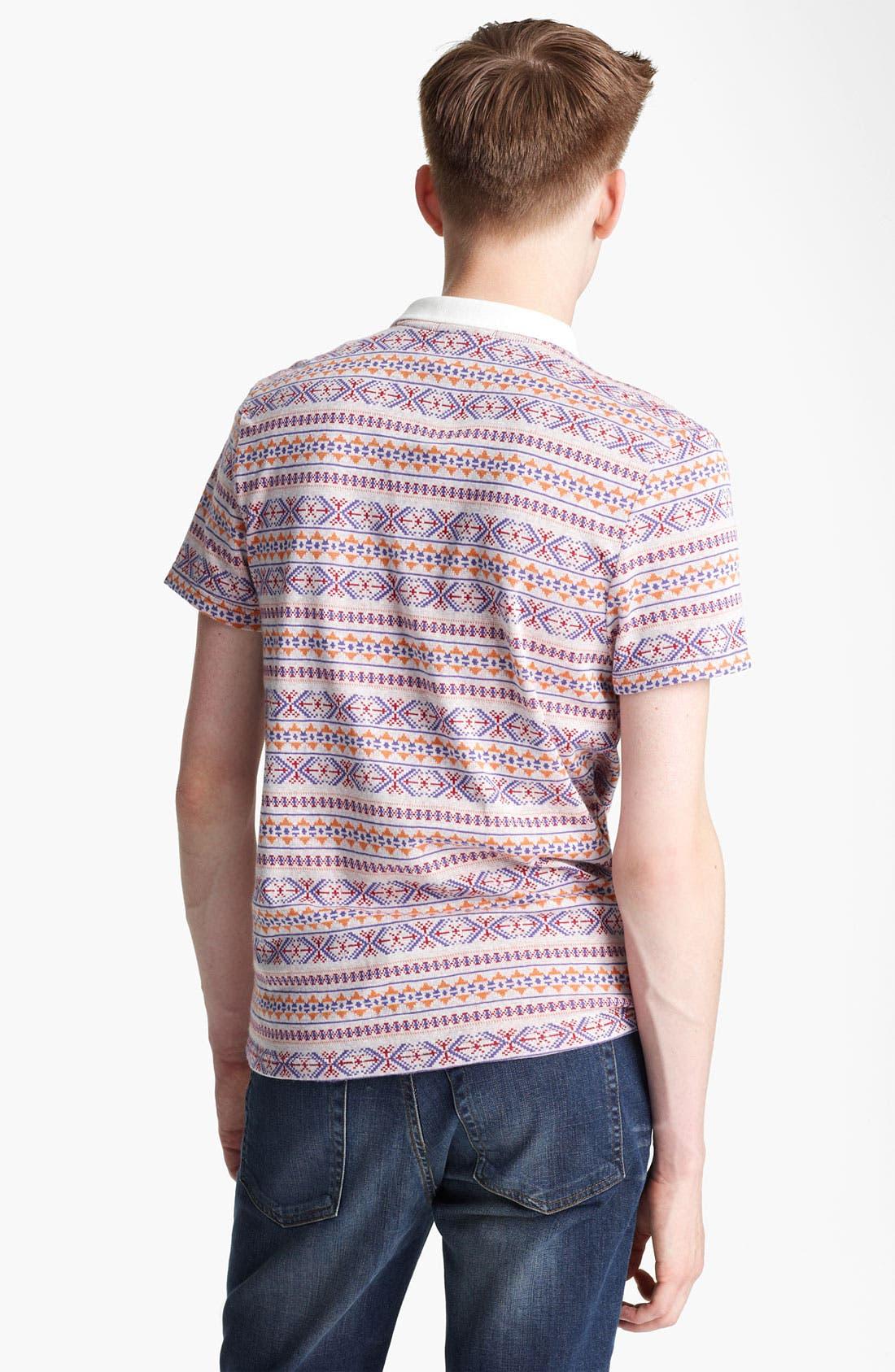 Alternate Image 2  - Topman Jacquard Polo Shirt
