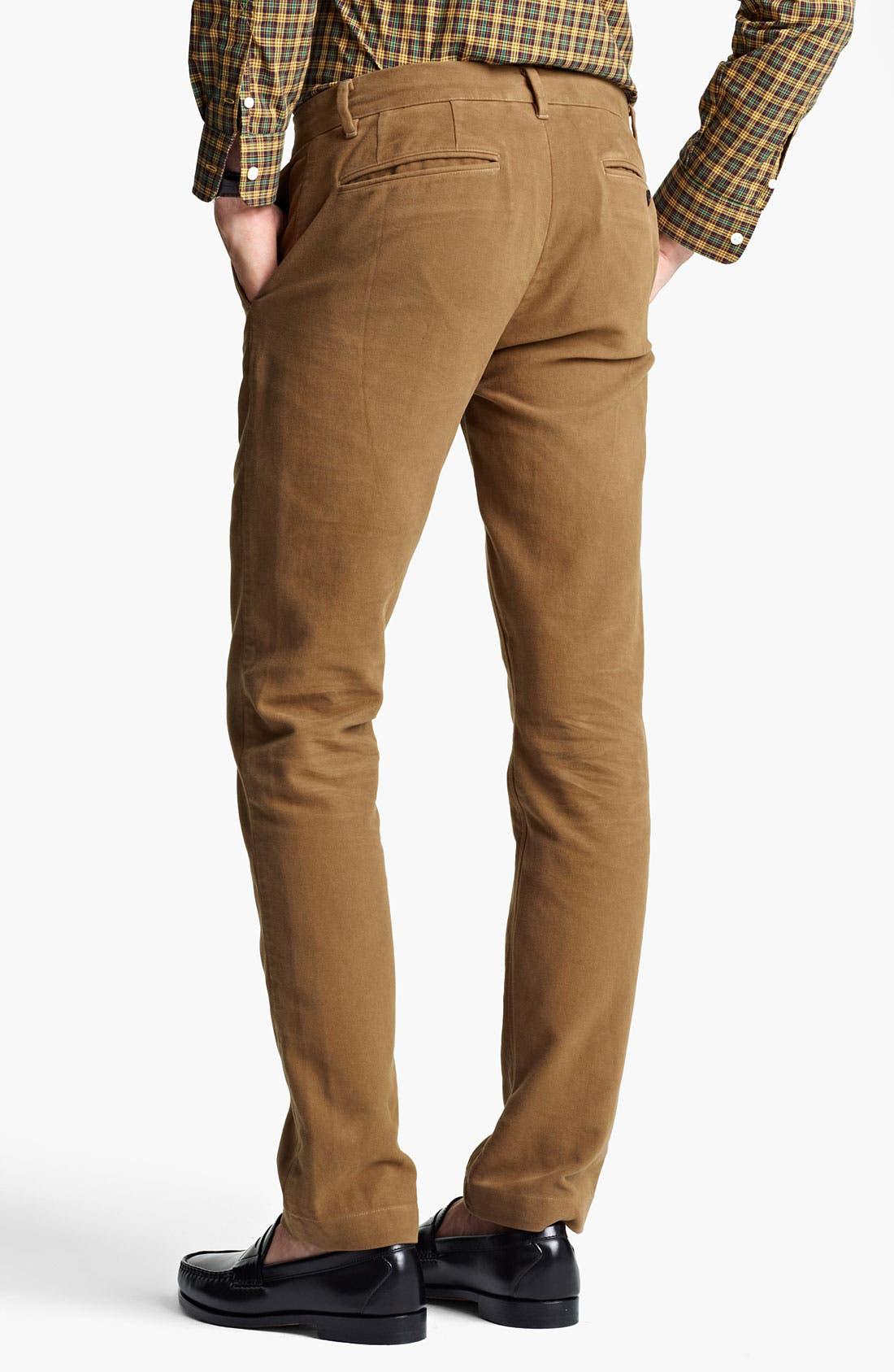 Alternate Image 2  - Jack Spade 'Dwight' Moleskin Cotton Trousers