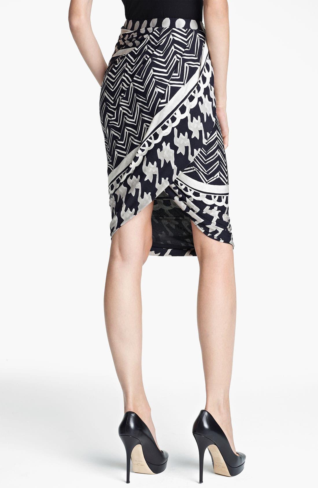 Alternate Image 2  - Max Mara 'Ombrato' Print Jersey Tulip Skirt