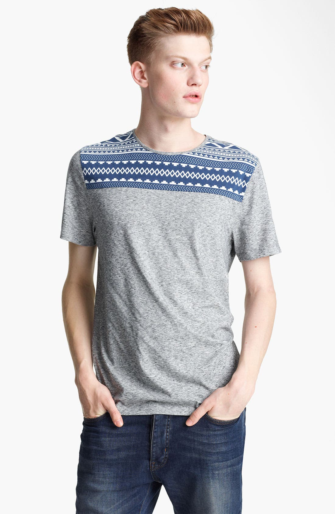 Alternate Image 1 Selected - Topman 'Aztec Yoke' T-Shirt