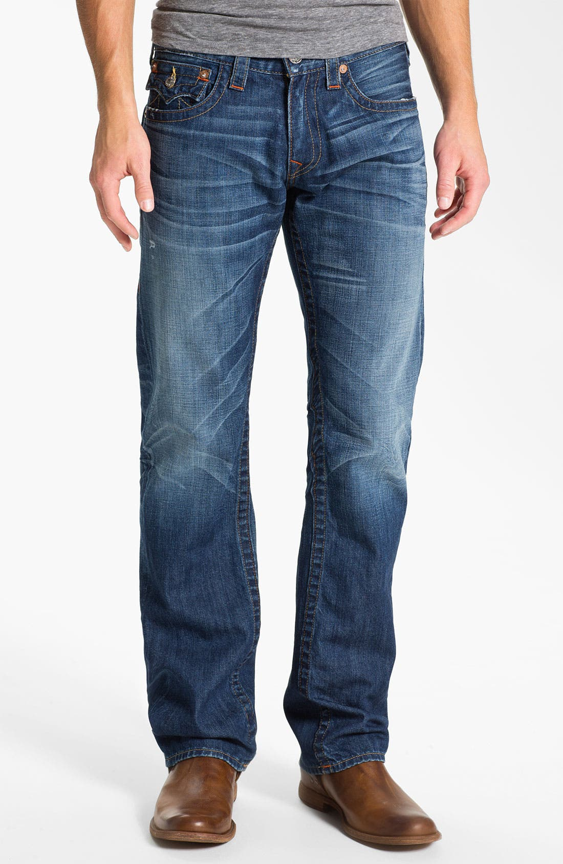 Alternate Image 2  - True Religion Brand Jeans 'Ricky' Straight Leg Jeans (Pioneer)