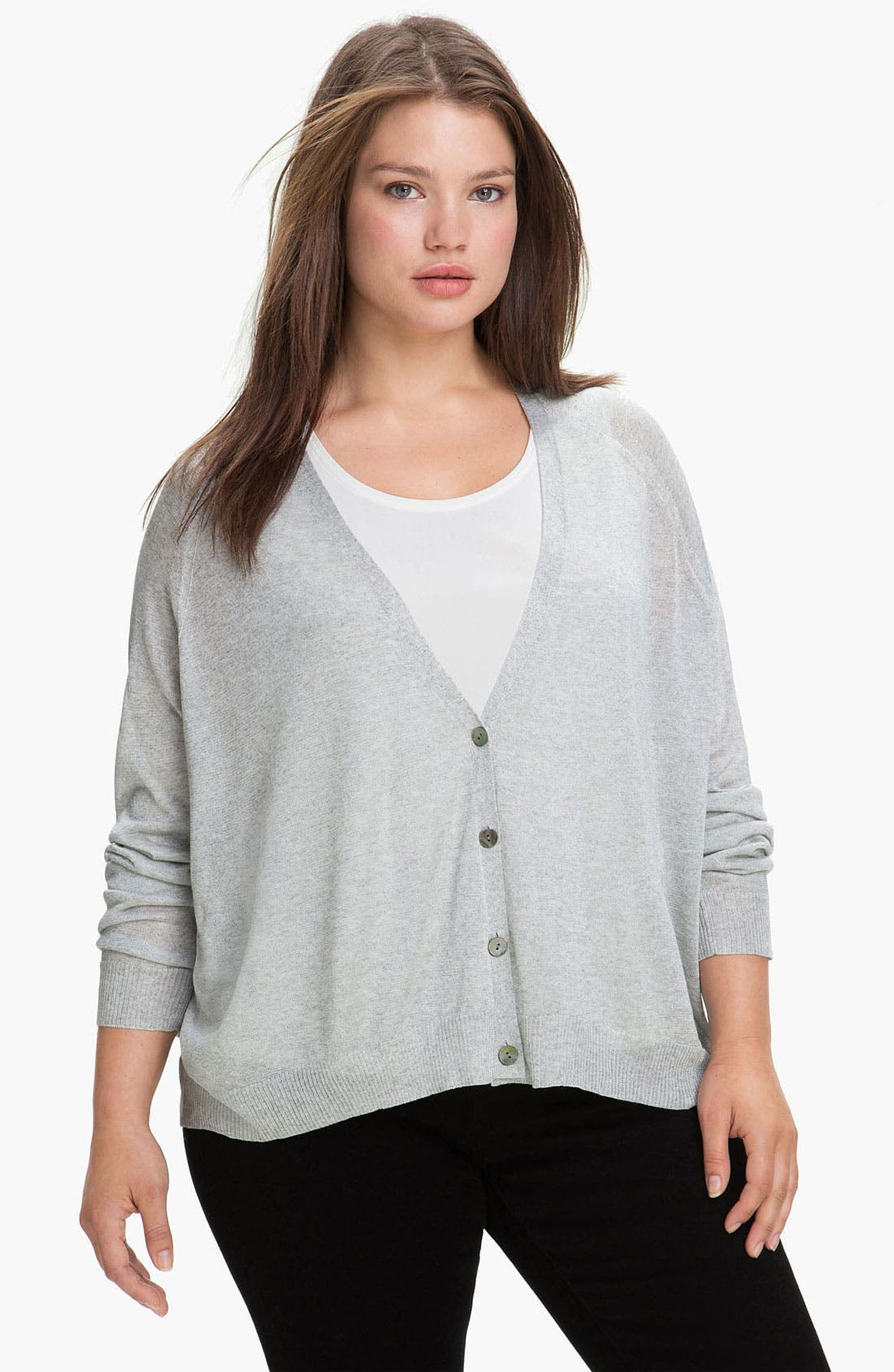 Alternate Image 1 Selected - Eileen Fisher 'Shine' Cardigan (Plus)
