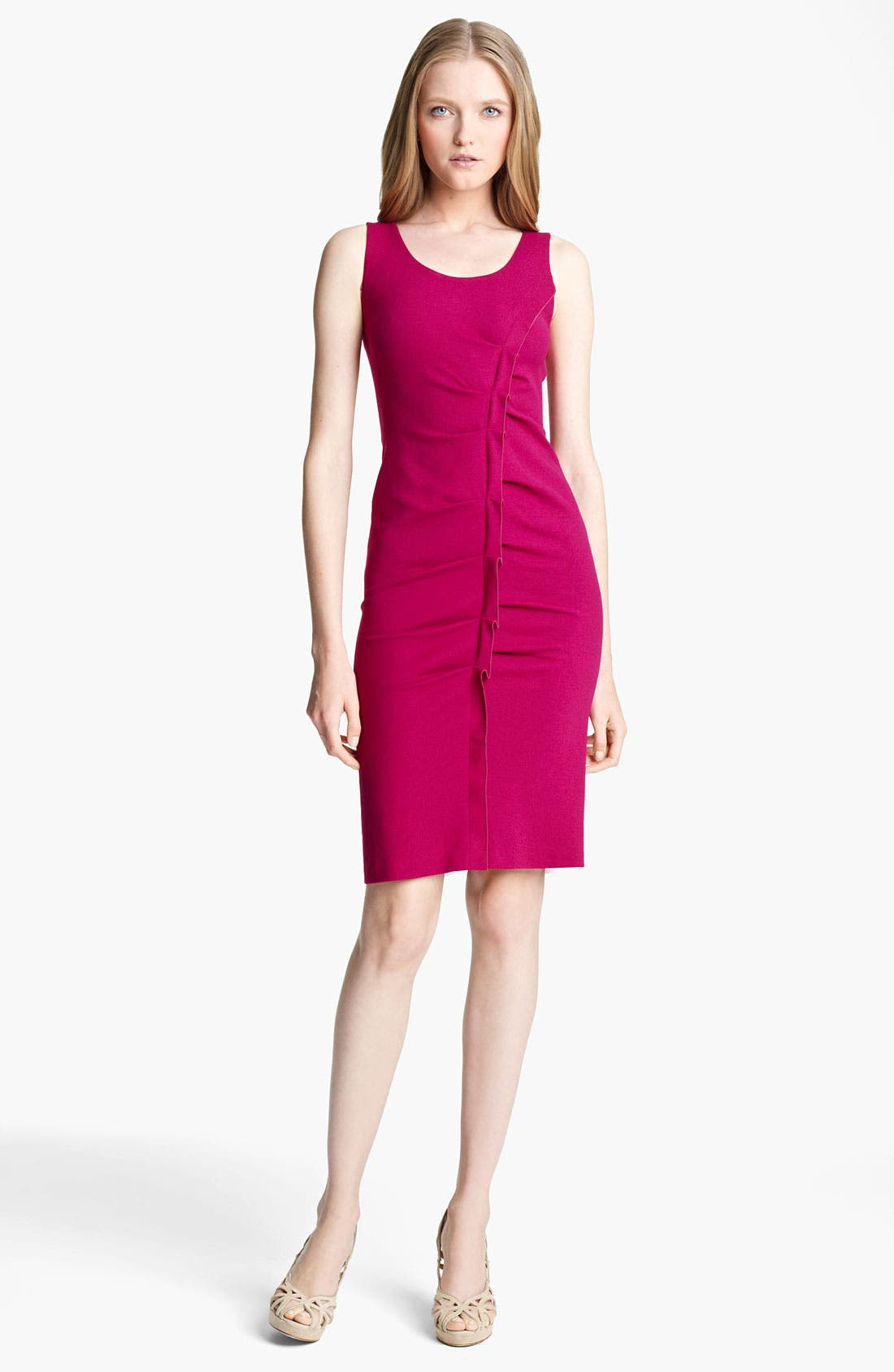 Alternate Image 1 Selected - Armani Collezioni Tuck Detail Jersey Dress