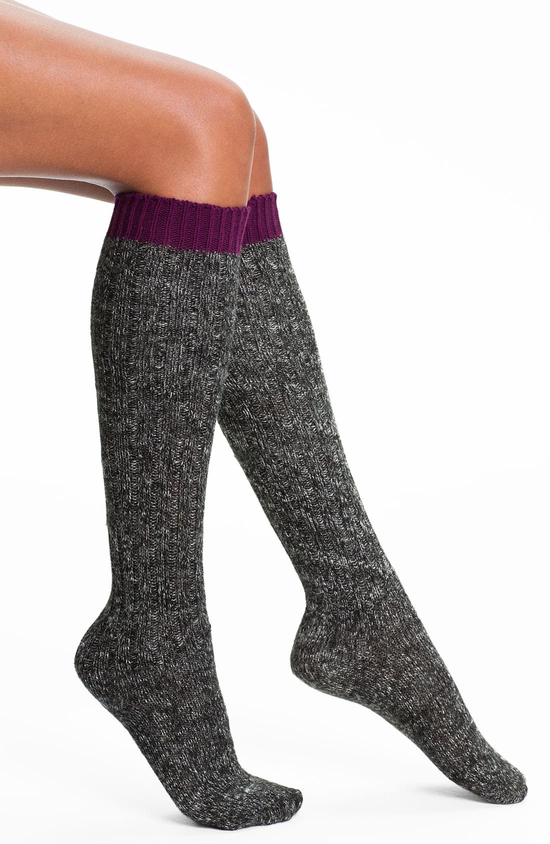 Alternate Image 1 Selected - DKNY Marled Boot Socks