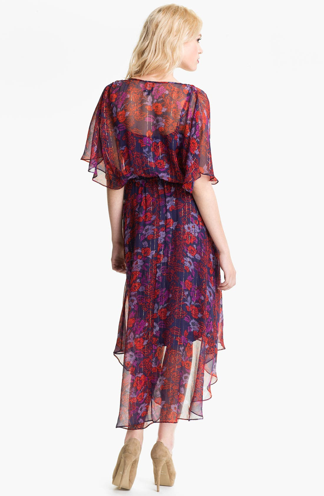 Alternate Image 2  - Ella Moss 'Rosemary' High/Low Print Dress