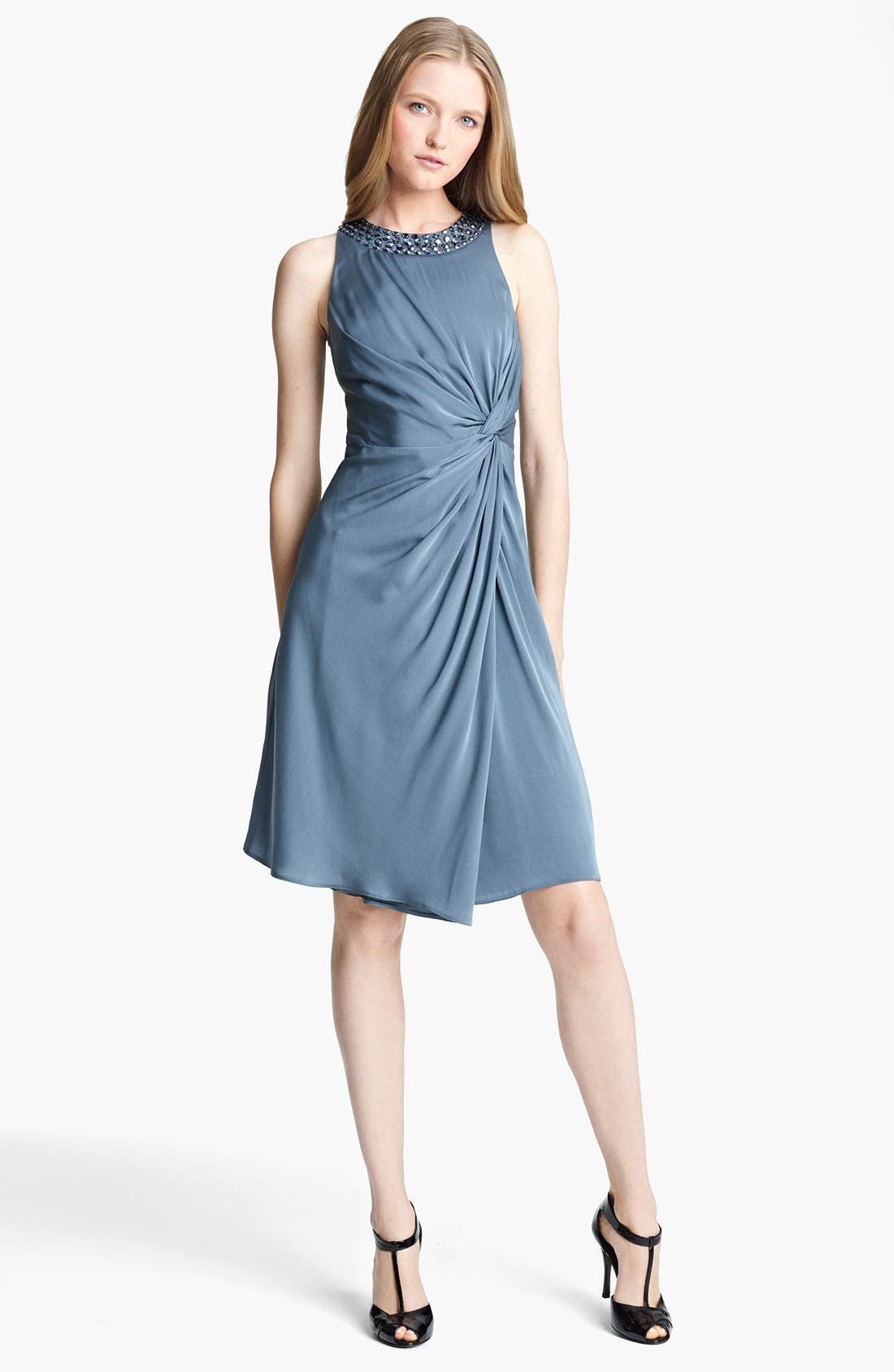 Main Image - Armani Collezioni Matte Silk Cocktail Dress