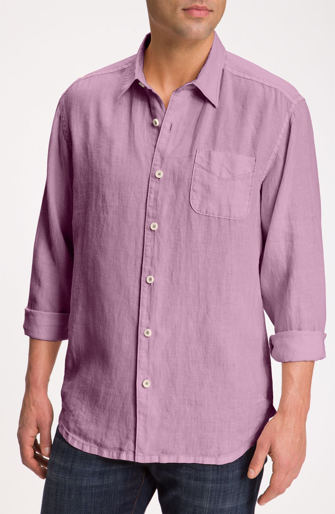 Alternate Image 1 Selected - Tommy Bahama 'Beachy Breezer' Linen Sport Shirt