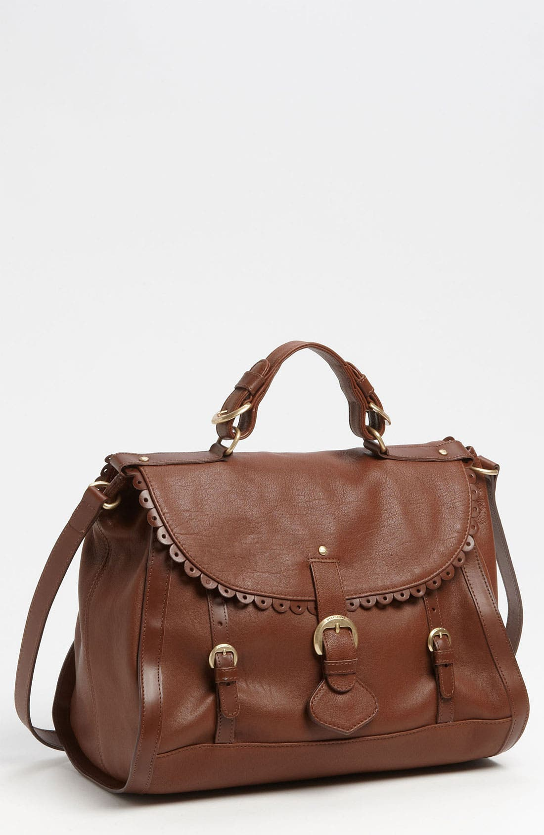 Main Image - See By Chloé 'Poya Vintage - Large' Metallic Leather Satchel