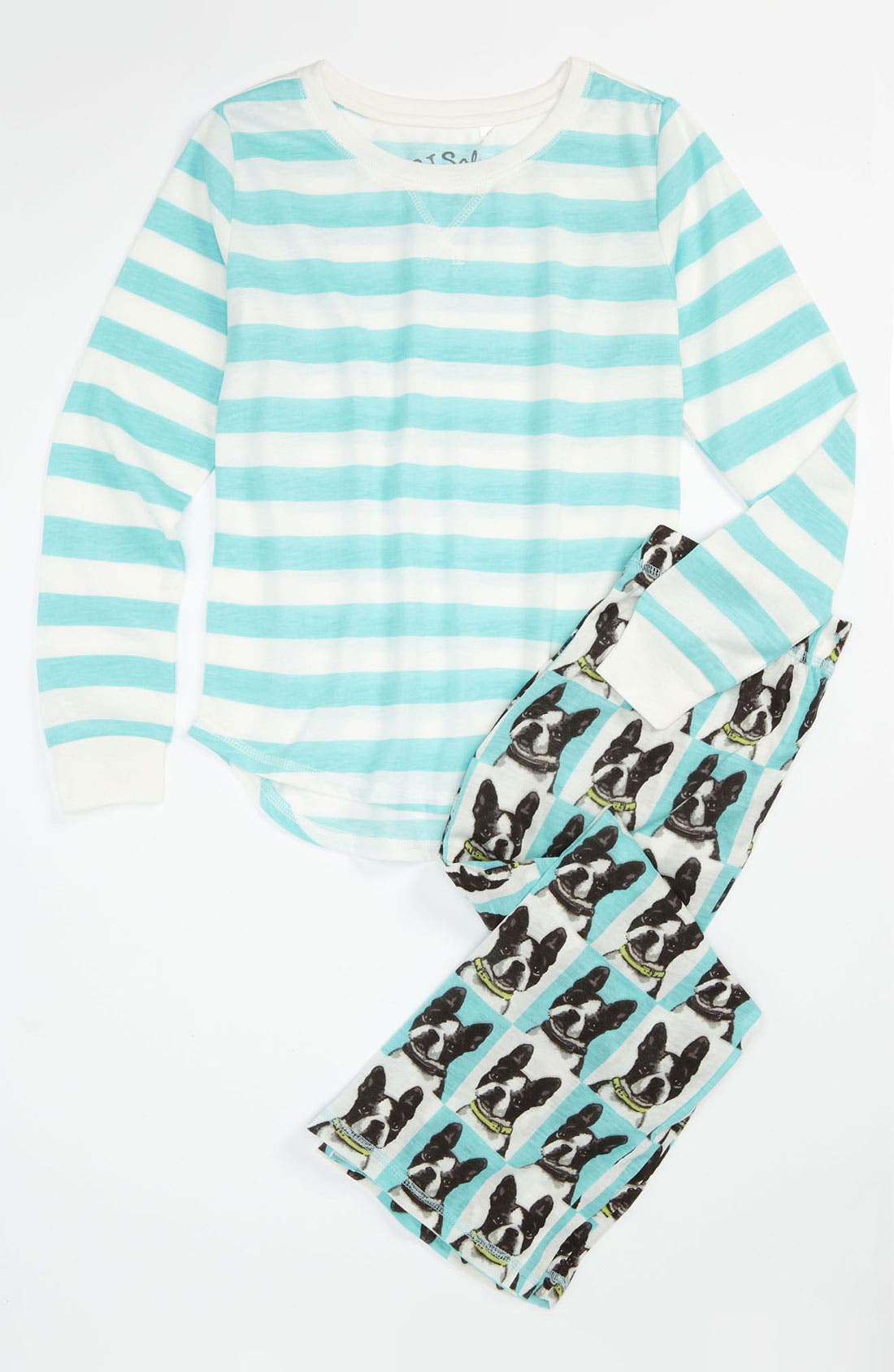 Graphic Pajama Set,                         Main,                         color, Aqua