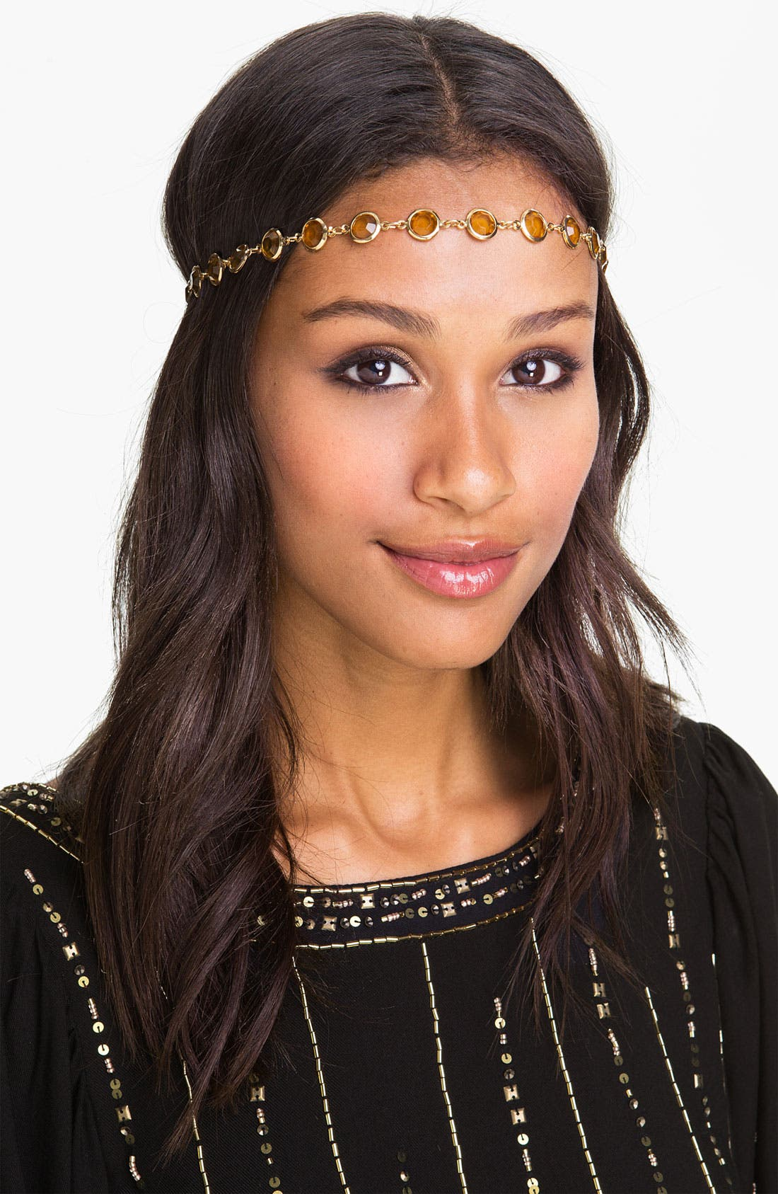 Main Image - Tasha 'Crystal Coins' Head Wrap
