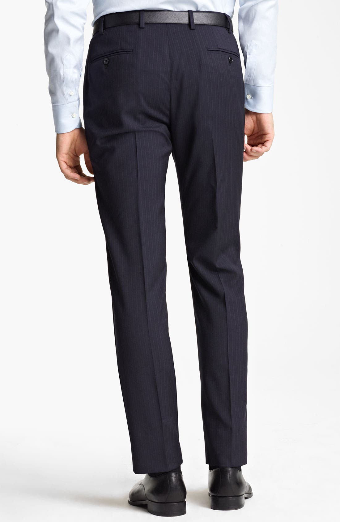 Alternate Image 5  - Armani Collezioni Trim Fit Stripe Suit