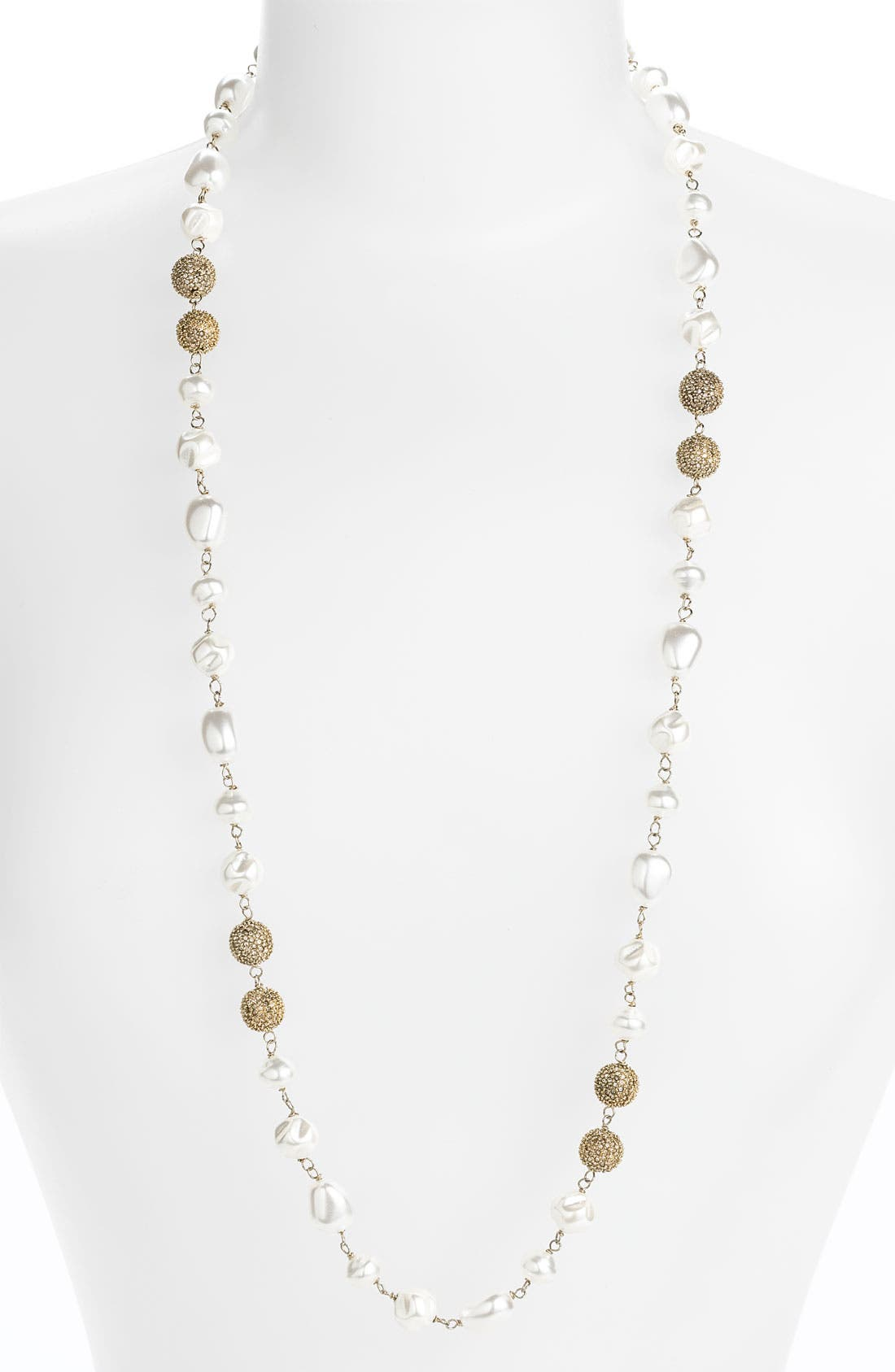 Alternate Image 1 Selected - St. John Collection Glass Pearl & Pavé Bead Necklace