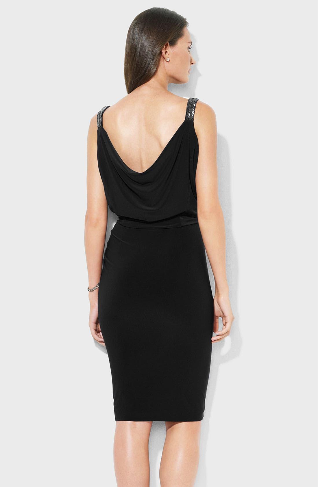 Alternate Image 2  - Lauren Ralph Lauren Cowl Neck Jersey Blouson Dress