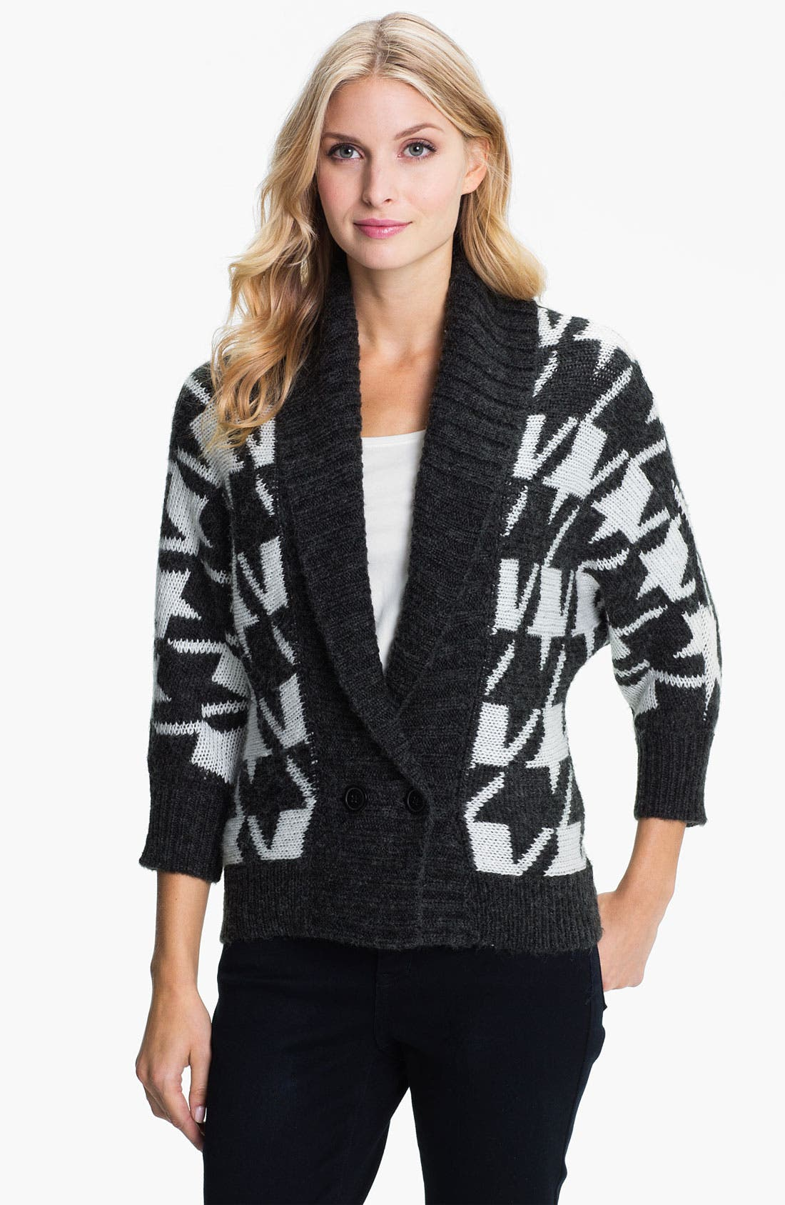 Alternate Image 1 Selected - Amber Sun Houndstooth Sweater Jacket