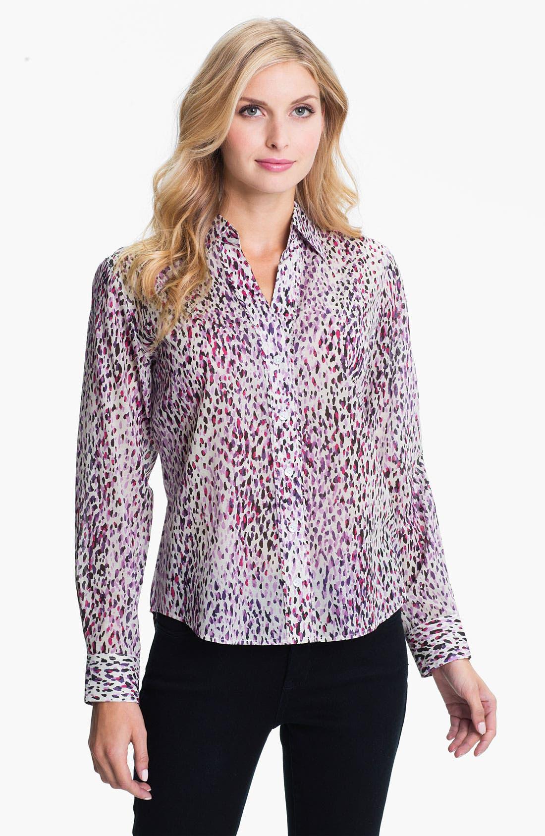 Alternate Image 1 Selected - Foxcroft 'Modern' Animal Print Shirt