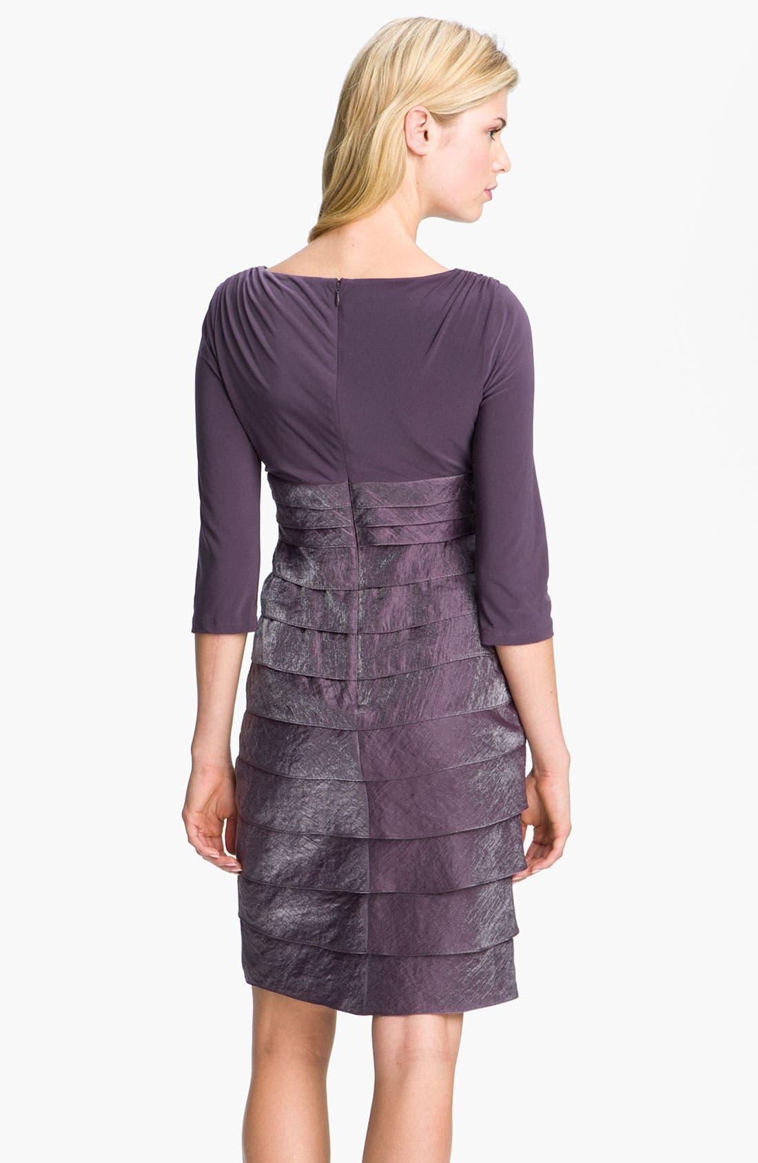 Alternate Image 2  - Adrianna Papell Tiered Surplice Dress (Petite)