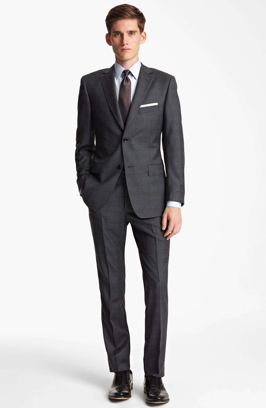 Alternate Image 2  - Z Zegna Trim Fit Check Wool Suit