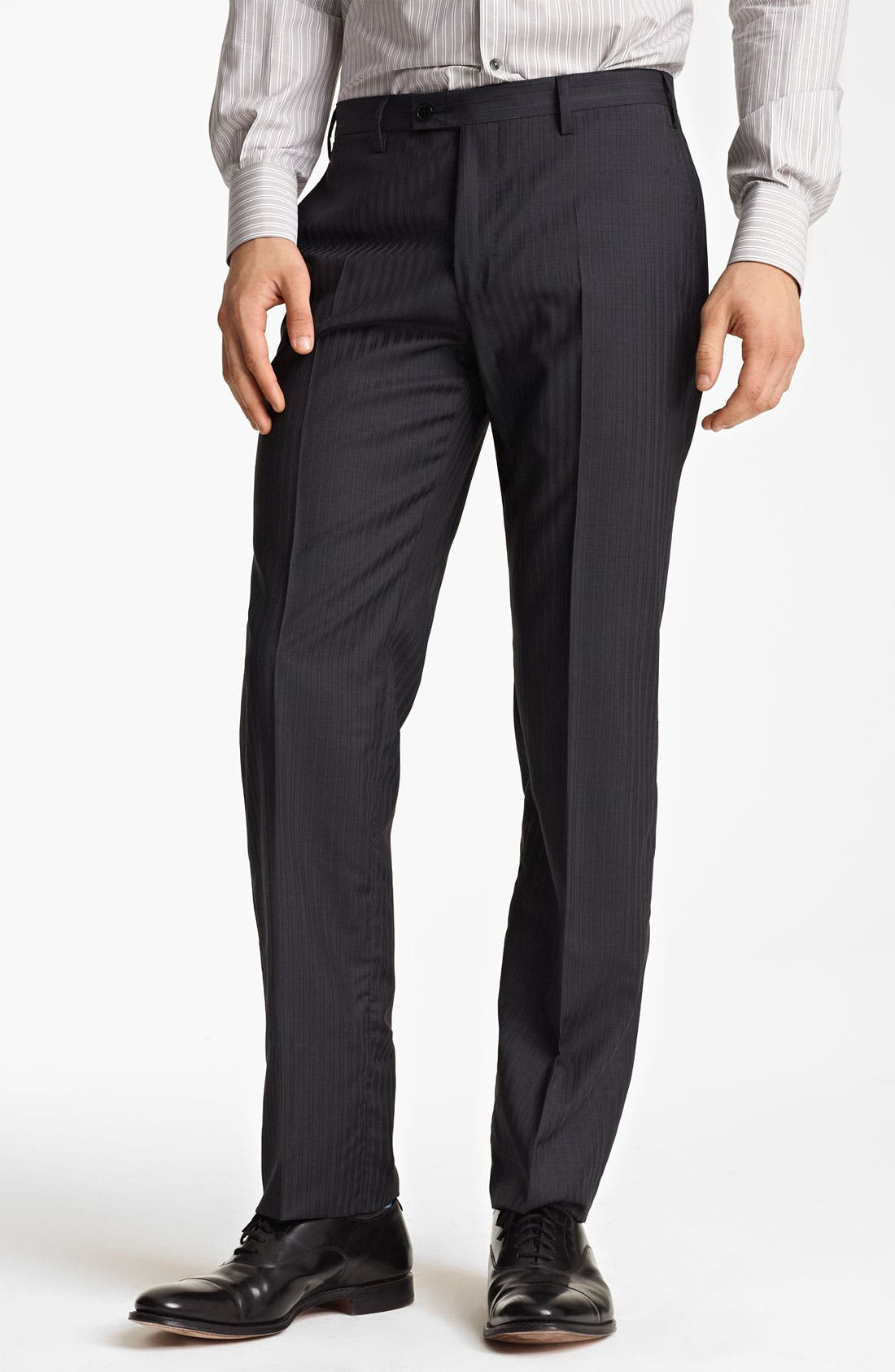 Alternate Image 4  - Versace Trim Fit Stripe Suit