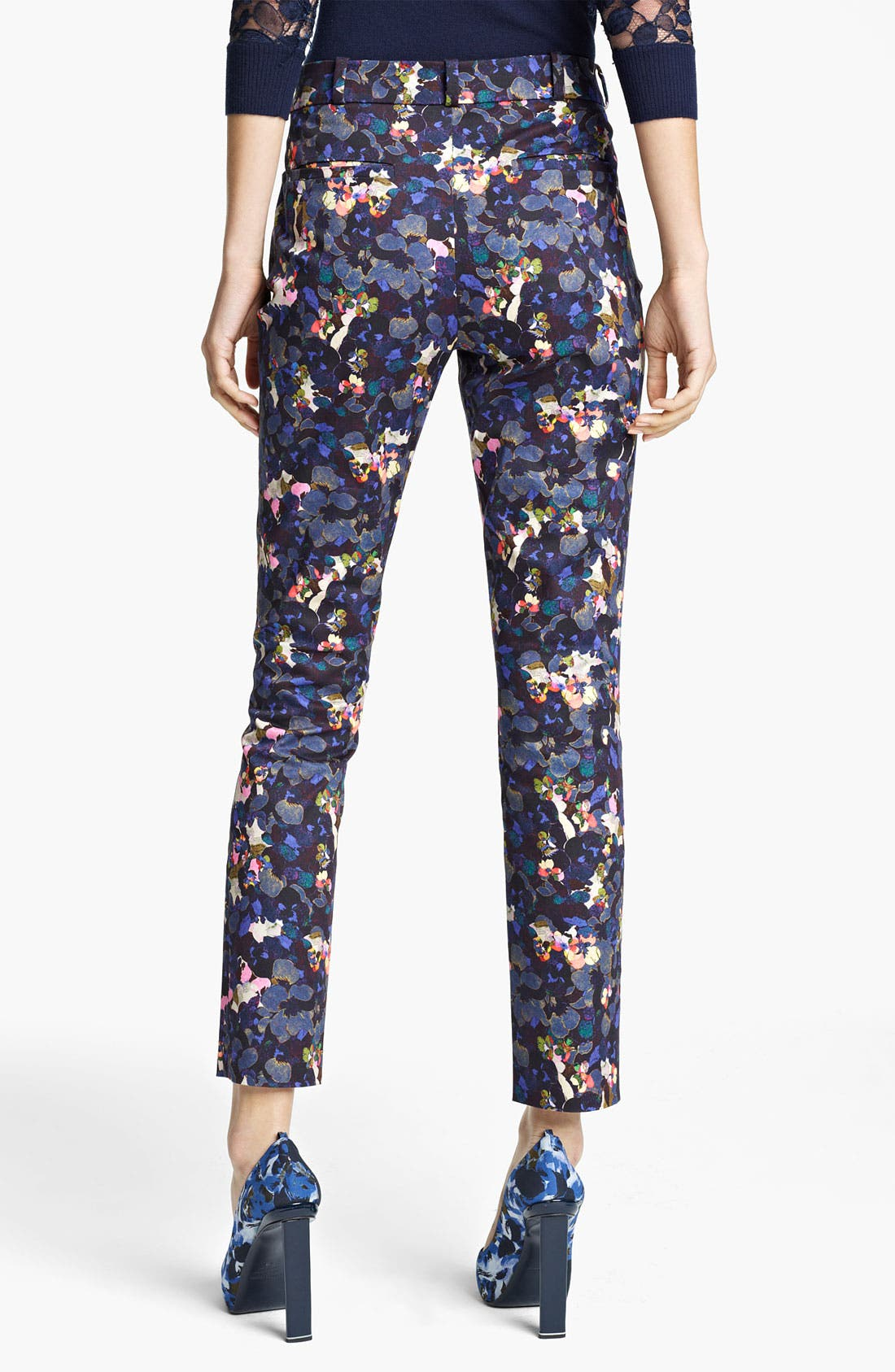 Alternate Image 2  - Erdem Petal Print Slim Pants