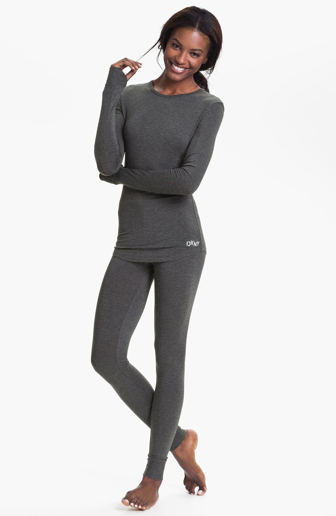 Alternate Image 4  - DKNY Base Layer Cuff Leggings
