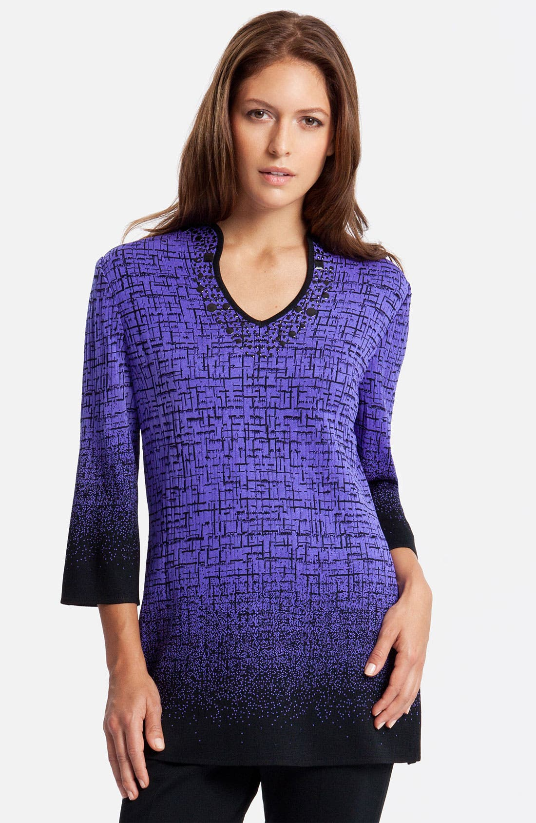 Alternate Image 1 Selected - Ming Wang Three Quarter Sleeve Tunic