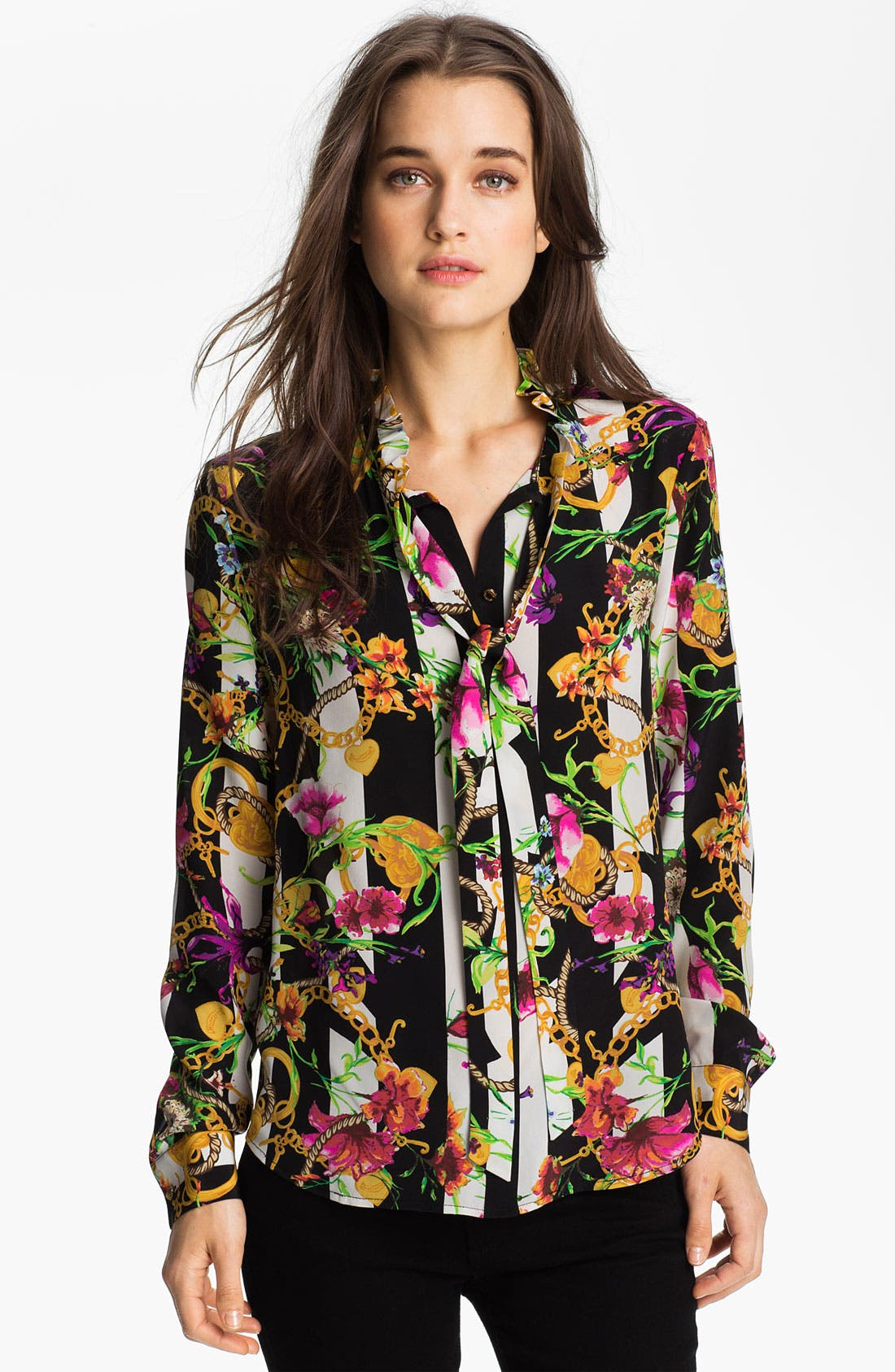 Alternate Image 1 Selected - Juicy Couture Floral Print Shirt