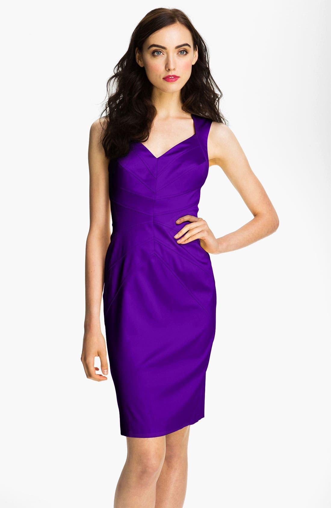 Alternate Image 1 Selected - Jessica Simpson Starburst Seam Sheath Dress
