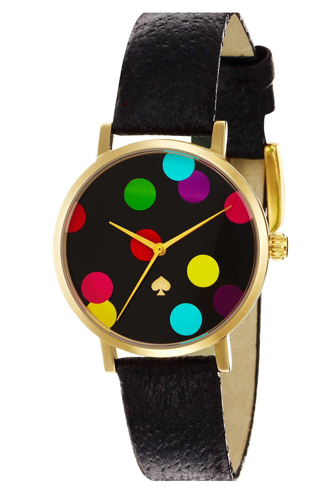 Alternate Image 1 Selected - kate spade new york 'metro' round confetti dial watch