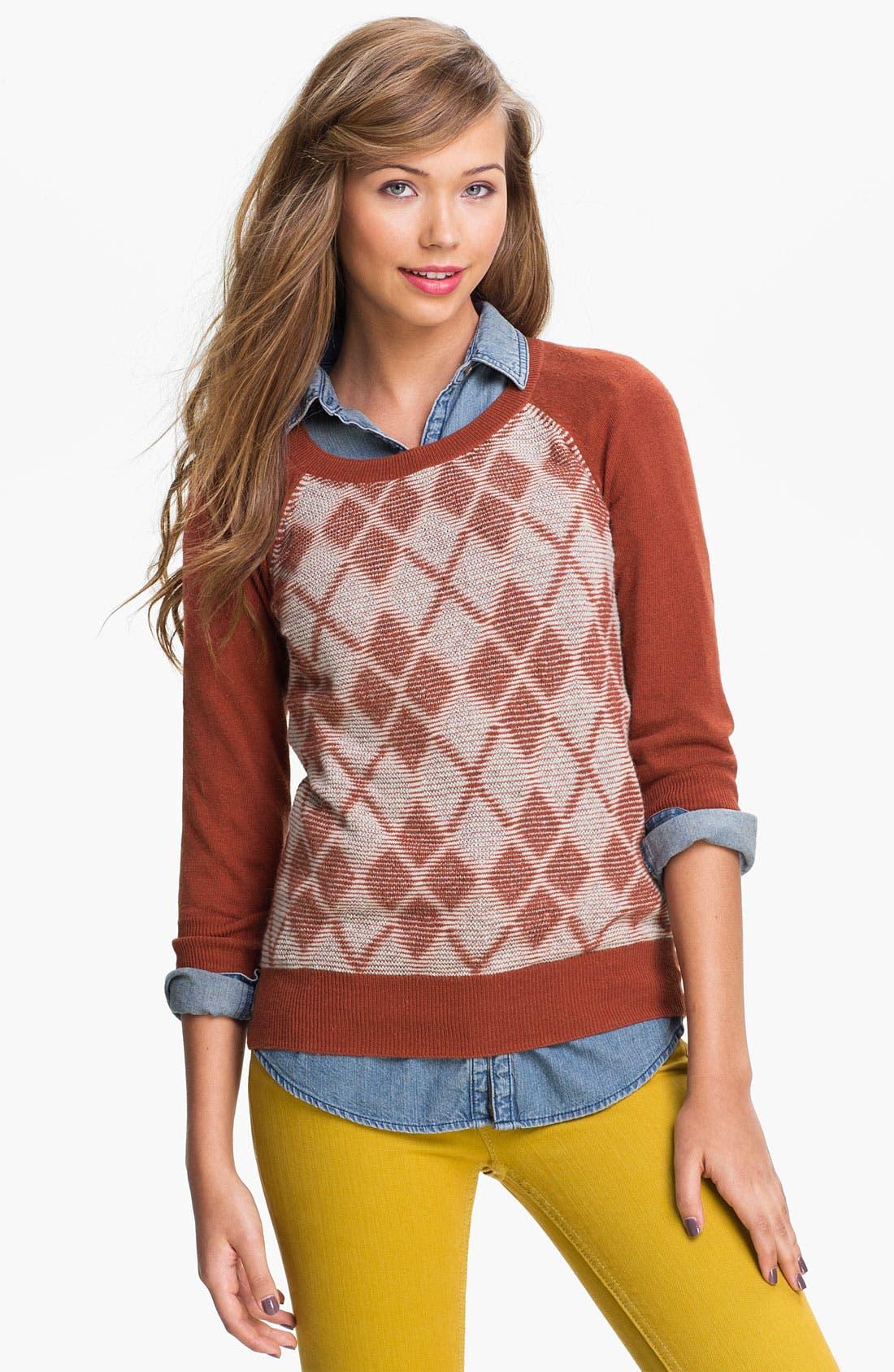 Alternate Image 1 Selected - BP. Argyle Sweater (Juniors)