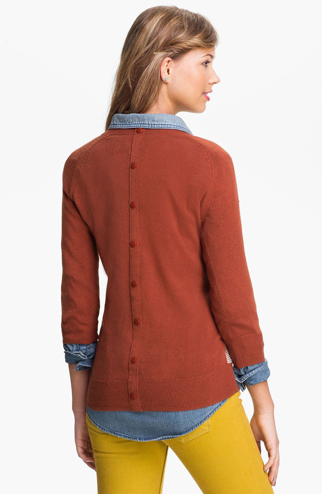 Alternate Image 2  - BP. Argyle Sweater (Juniors)
