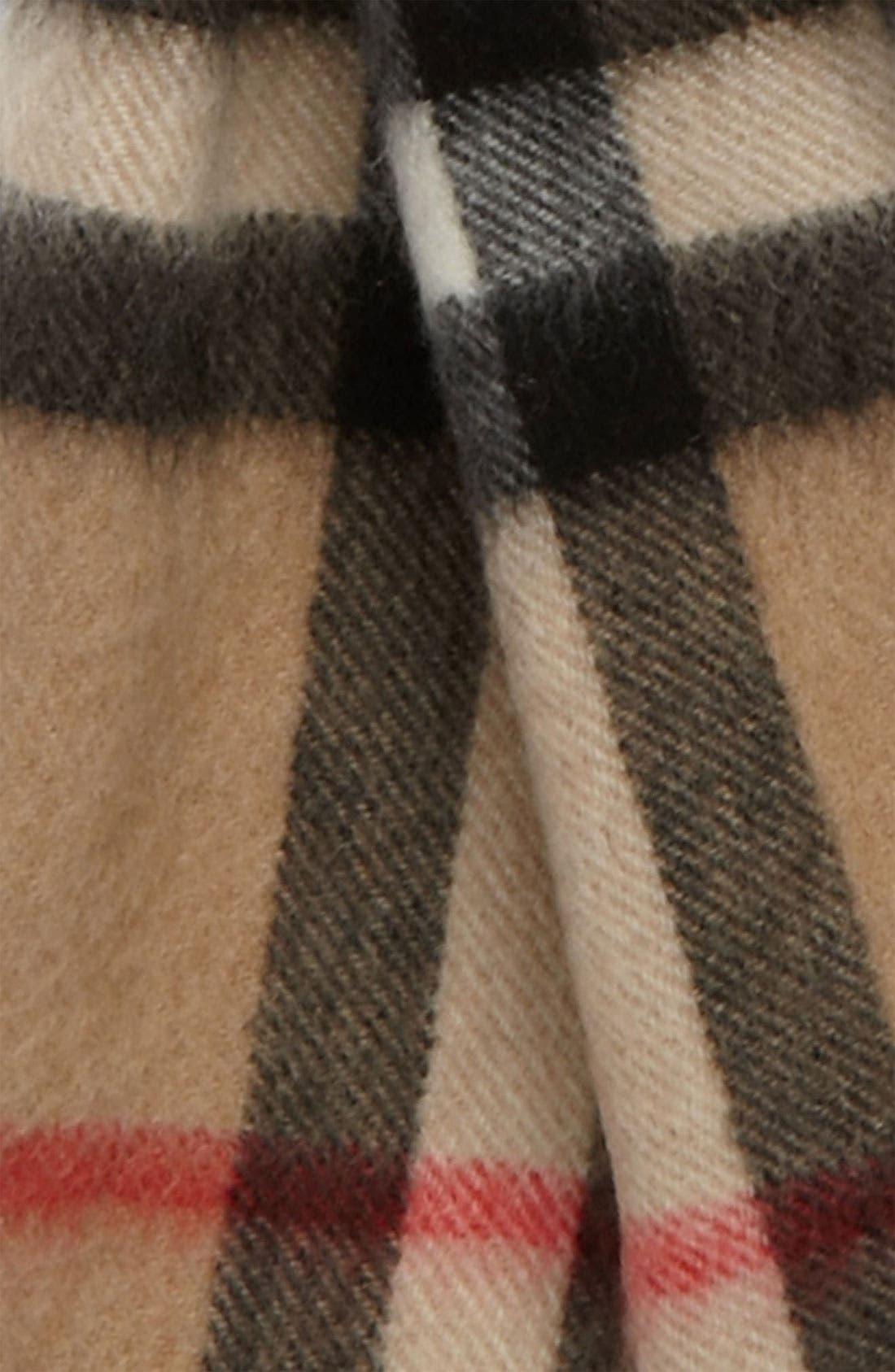 Alternate Image 2  - Burberry 'House Check' Cashmere Scarf (Girls)