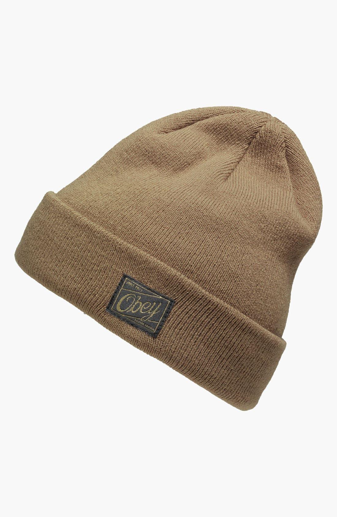 Alternate Image 1 Selected - Obey 'Jobber' Knit Cap