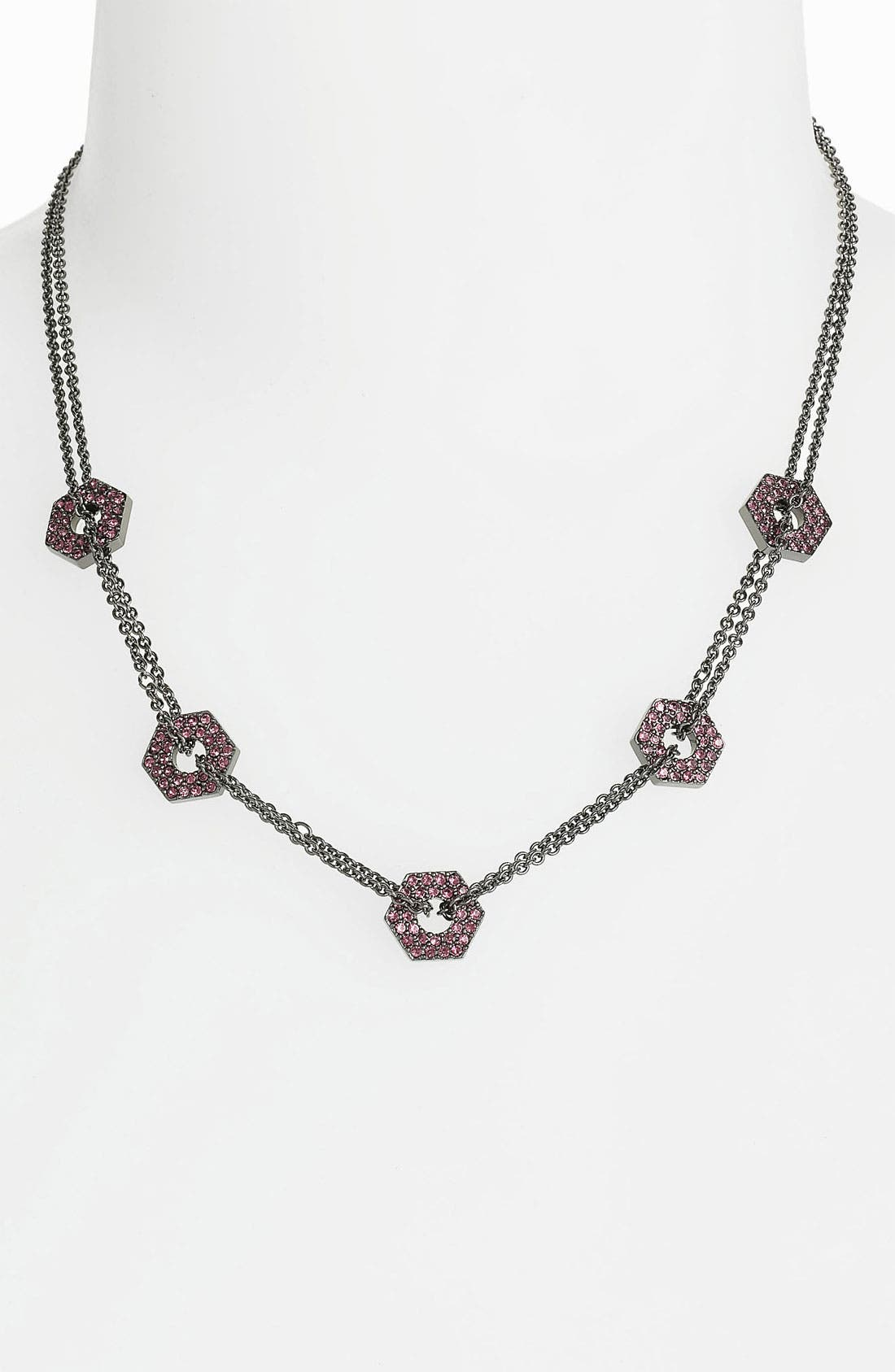 Alternate Image 1 Selected - MARC BY MARC JACOBS 'Bolts' Pavé Station Necklace