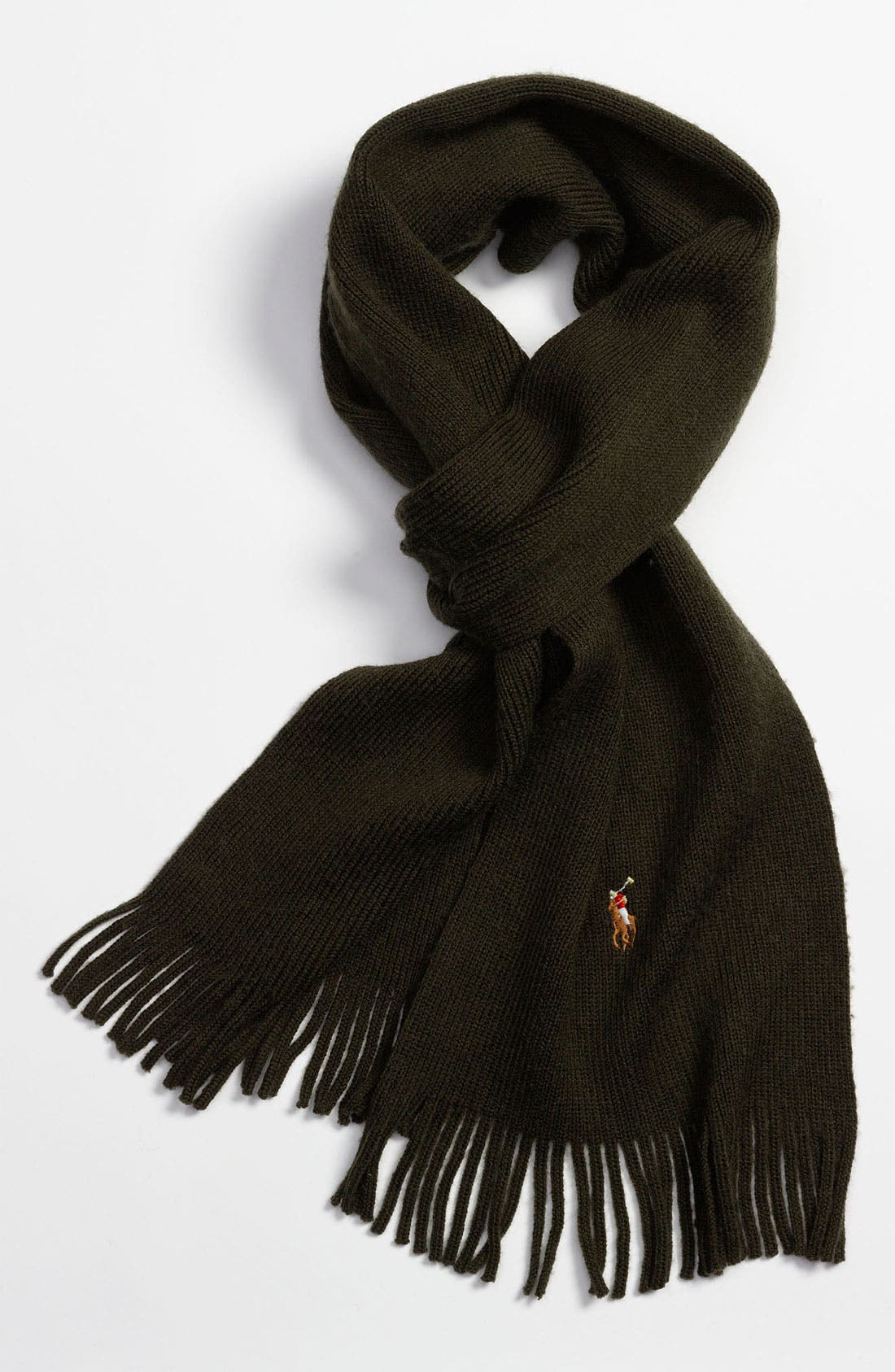 Alternate Image 1 Selected - Polo Ralph Lauren Classic Merino Wool Scarf