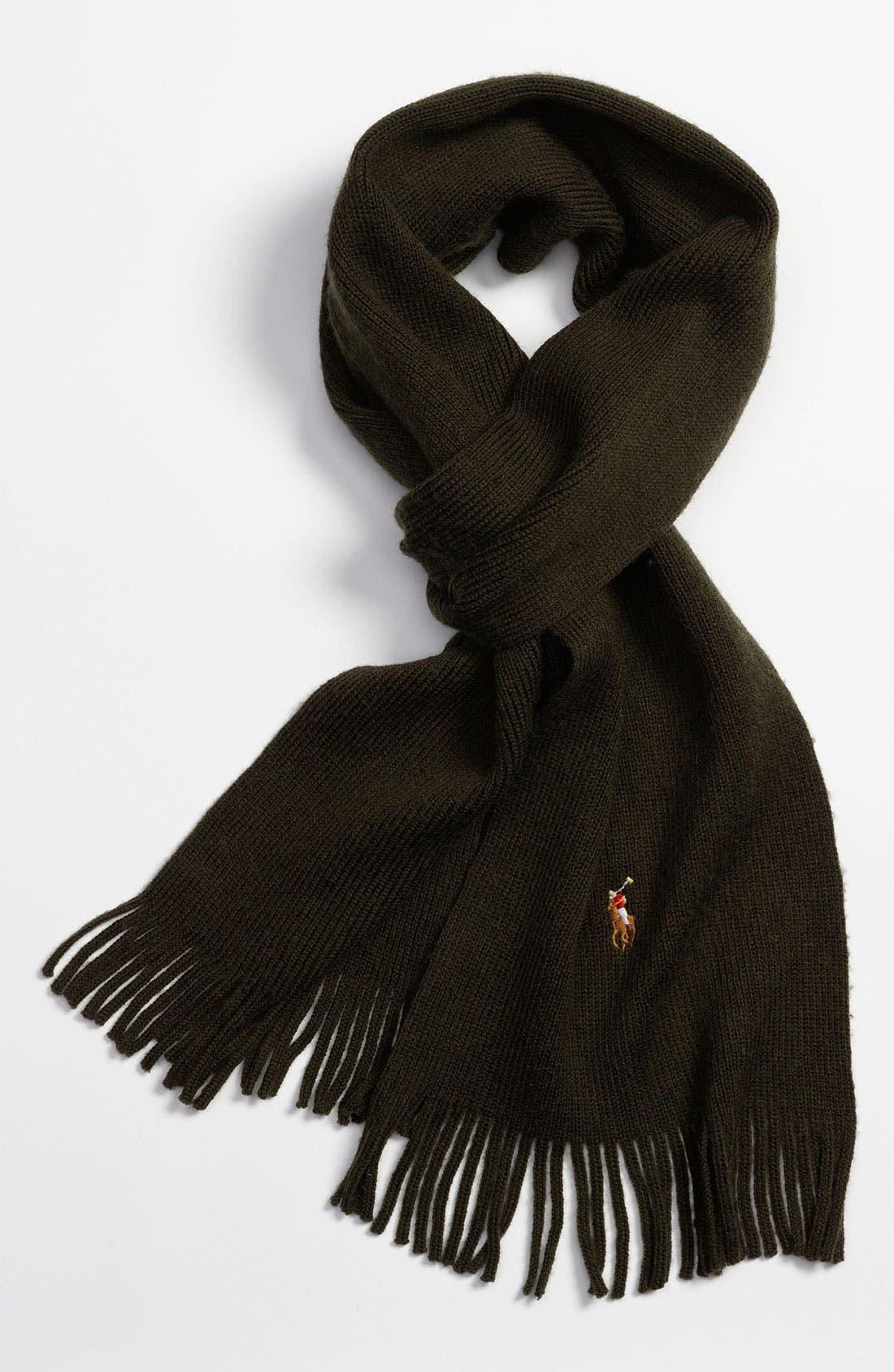 Main Image - Polo Ralph Lauren Classic Merino Wool Scarf