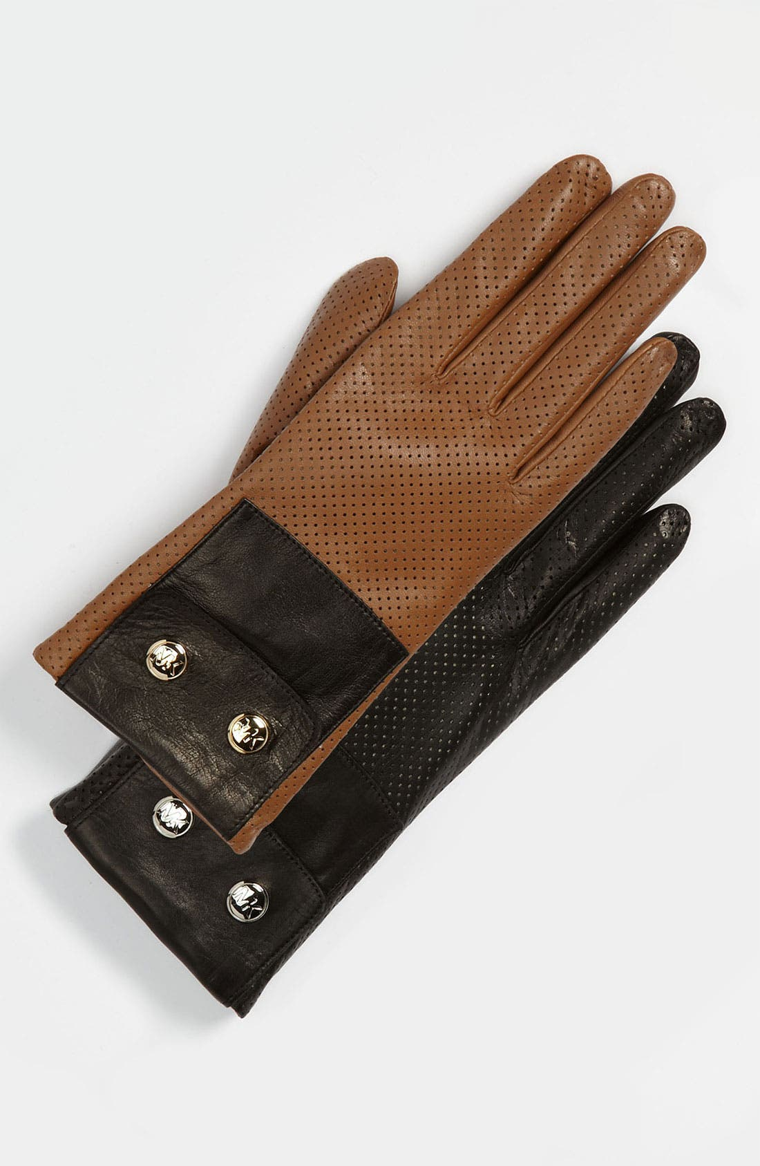 Main Image - MICHAEL Michael Kors Perforated Leather Gloves
