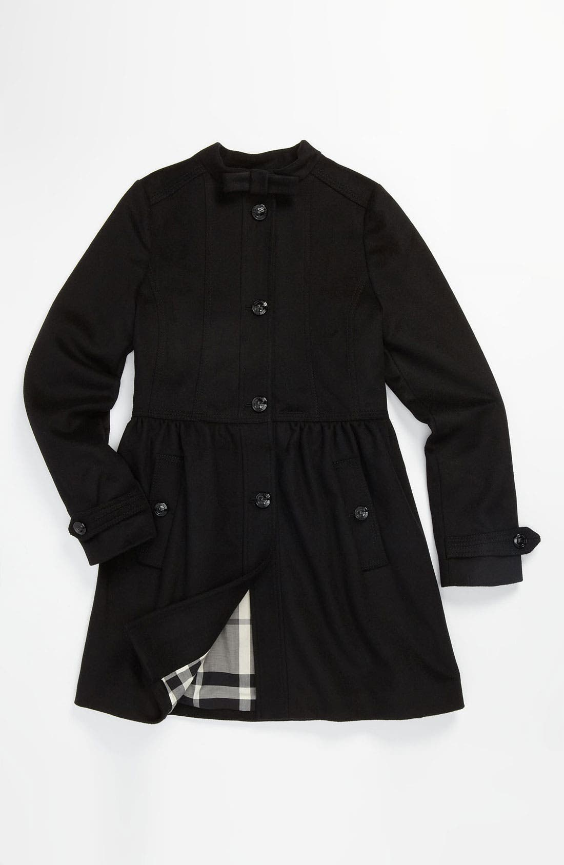 Main Image - Burberry Wool Blend Peacoat (Little Girls & Big Girls)