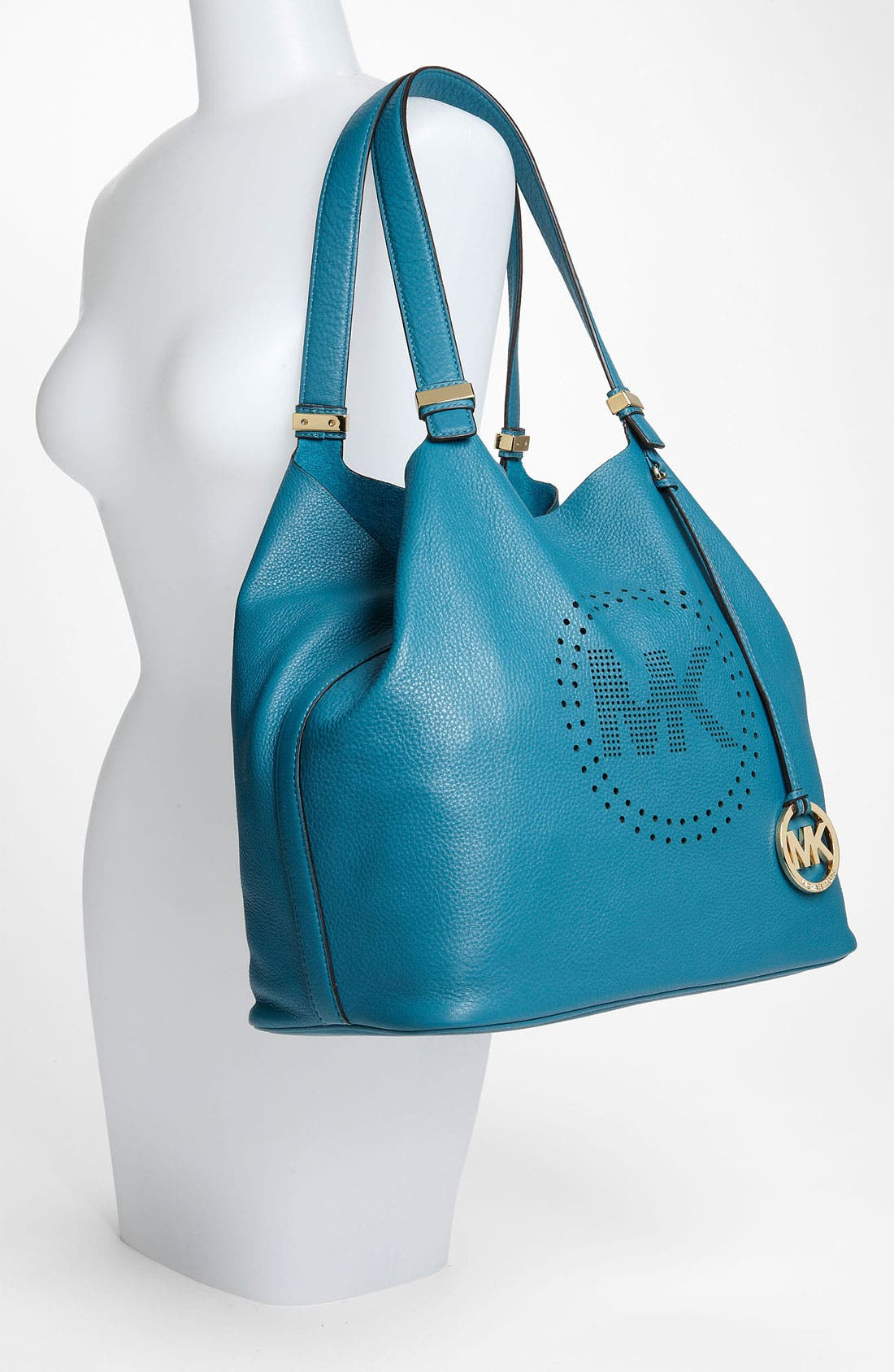 Alternate Image 2  - MICHAEL Michael Kors 'Perforated MK - Large' Leather Tote