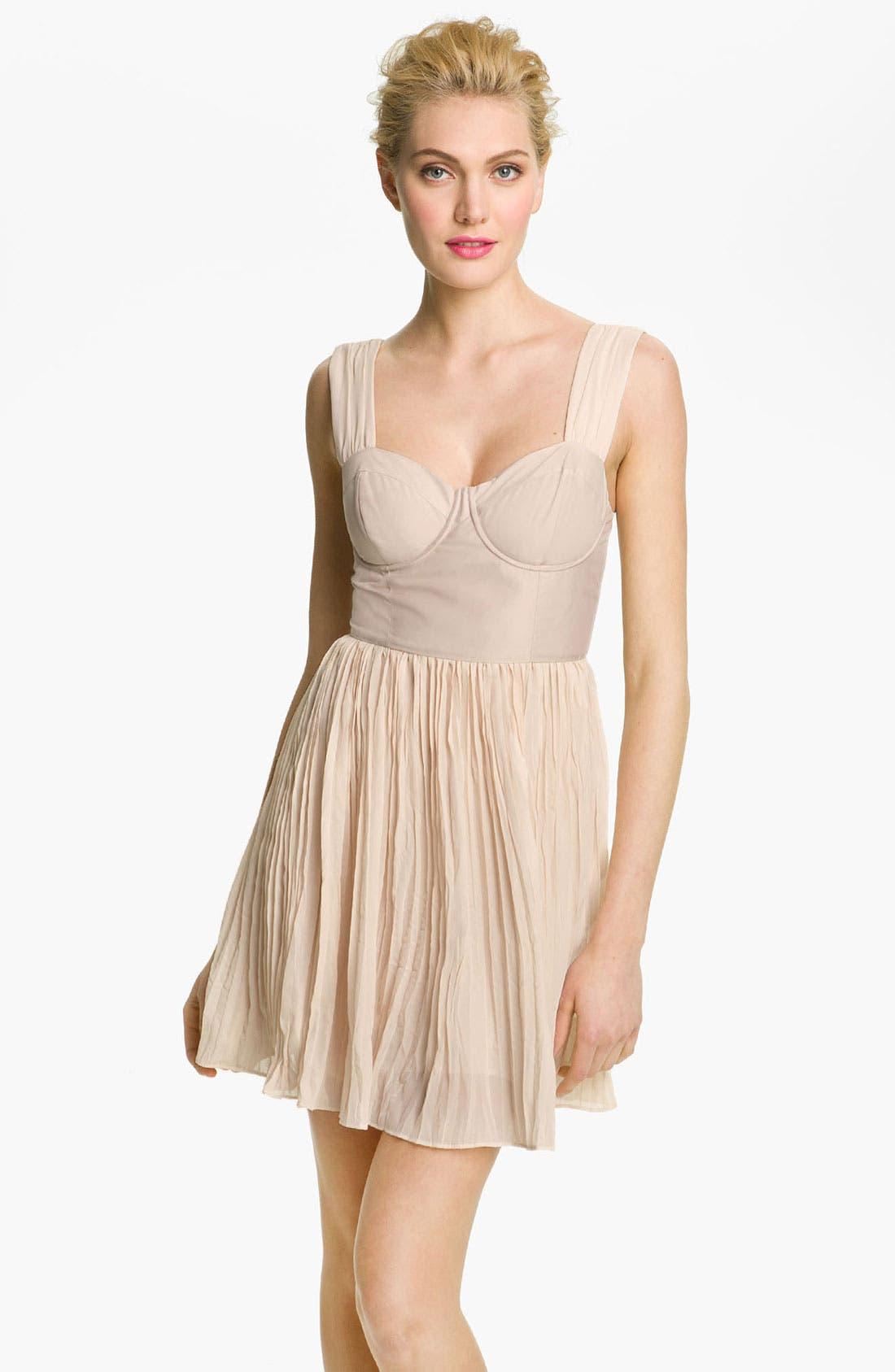 Alternate Image 1 Selected - BB Dakota 'Abella' Pleated Bustier Dress