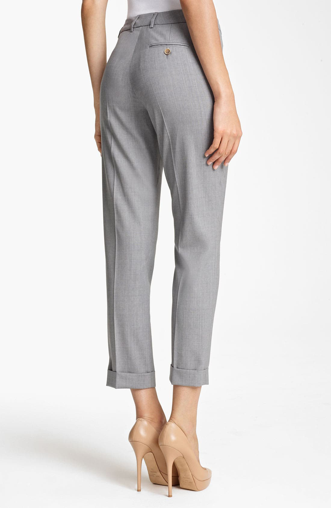 Alternate Image 2  - Fabiana Filippi Lightweight Wool Crop Pants
